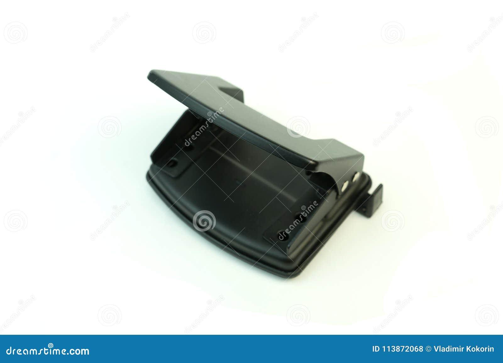 Papier de perforatrice Photo sur le fond blanc