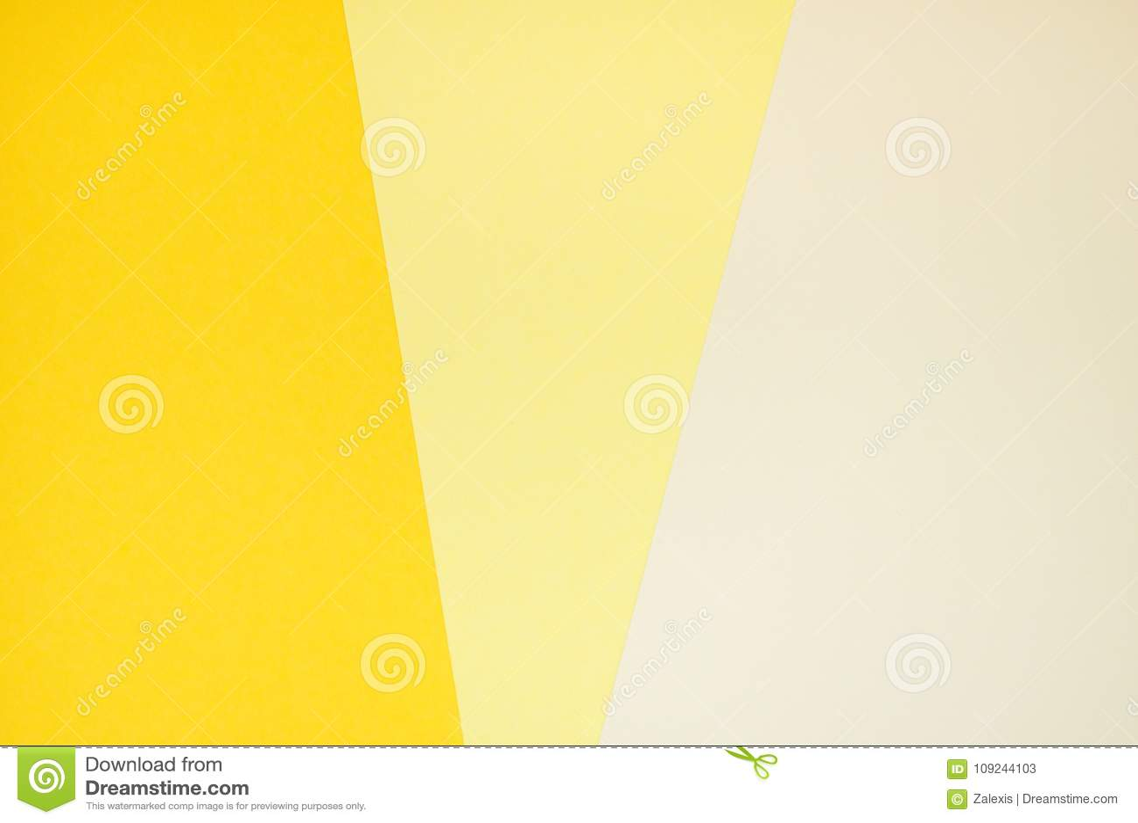 Papier jaune de couleur à trois nuances