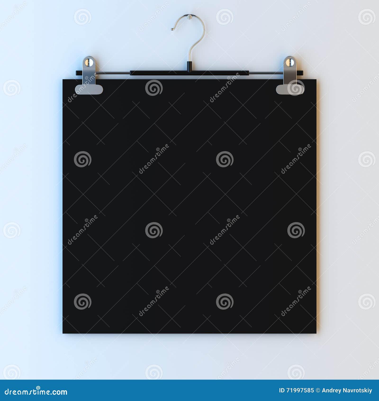 Papier Mit Rahmen Auf Aufhänger Stock Abbildung - Illustration von ...