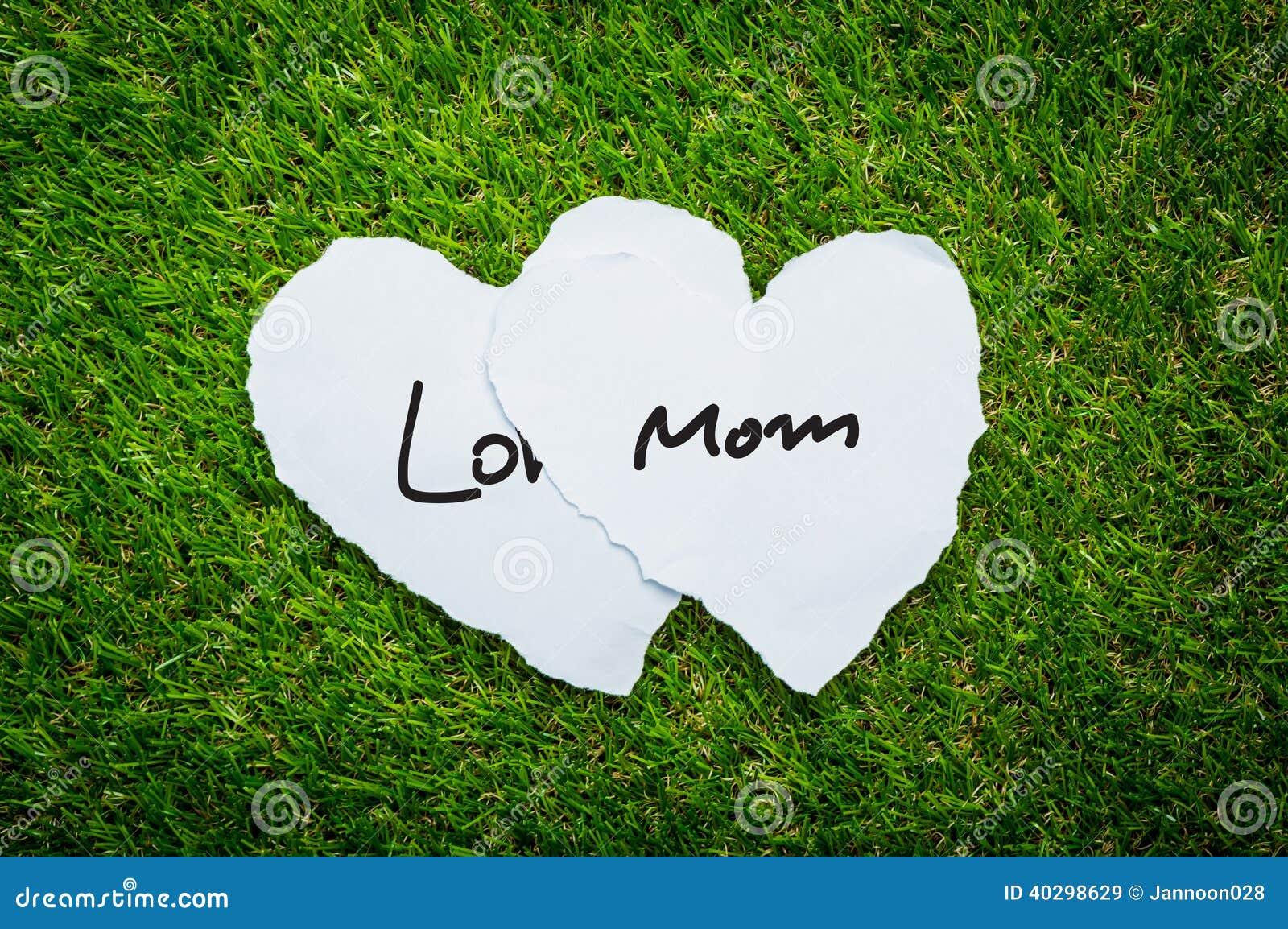 Papier mit zwei Herzen auf Hintergrund des grünen Grases