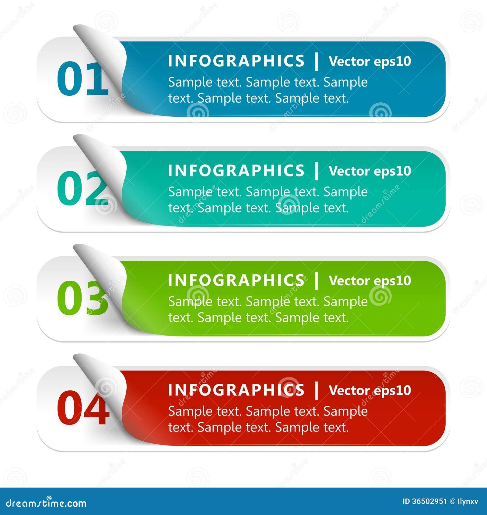 Papier numéroté Infographics