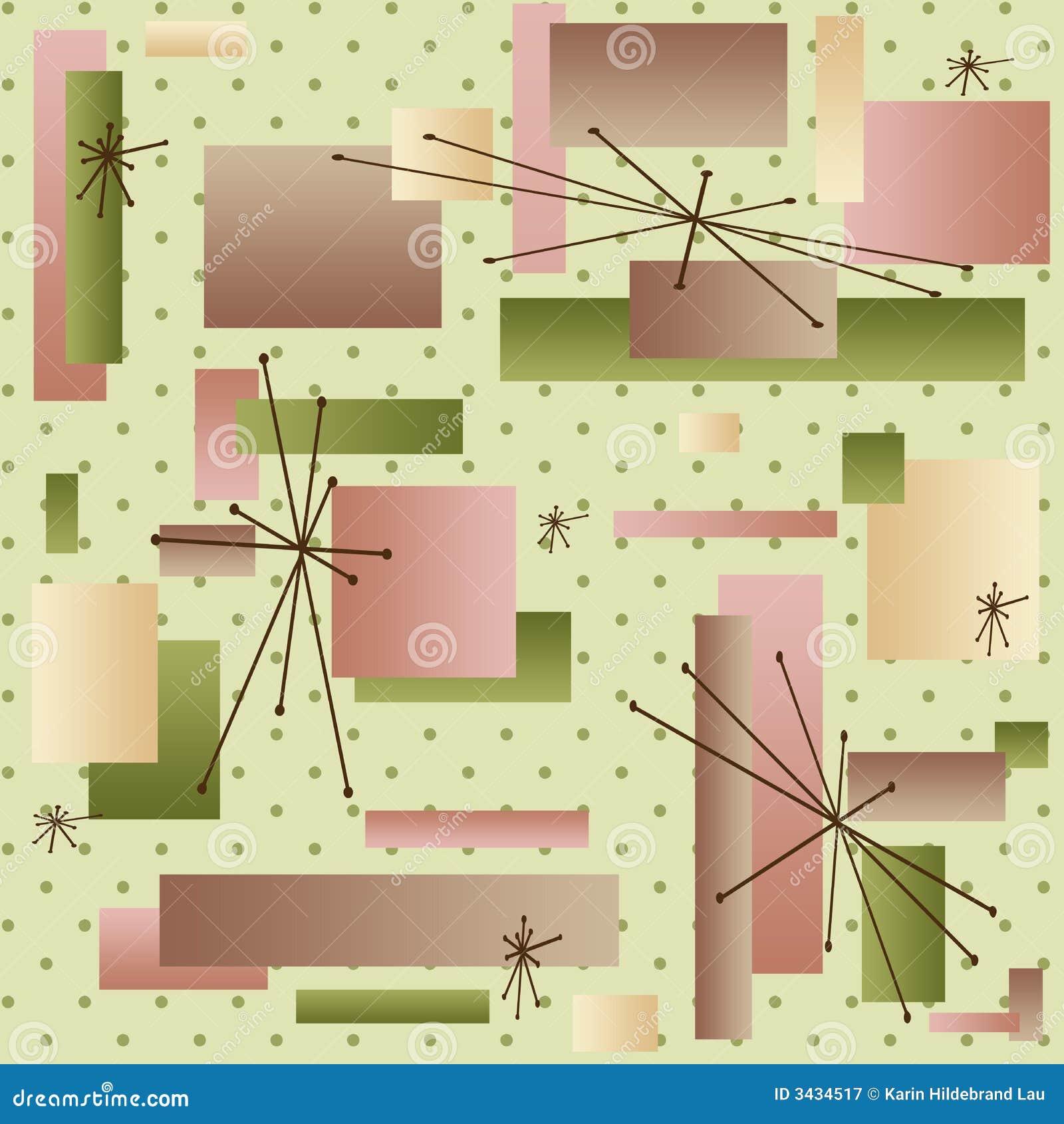 papier peint 50s illustration de vecteur illustration du configuration 3434517. Black Bedroom Furniture Sets. Home Design Ideas