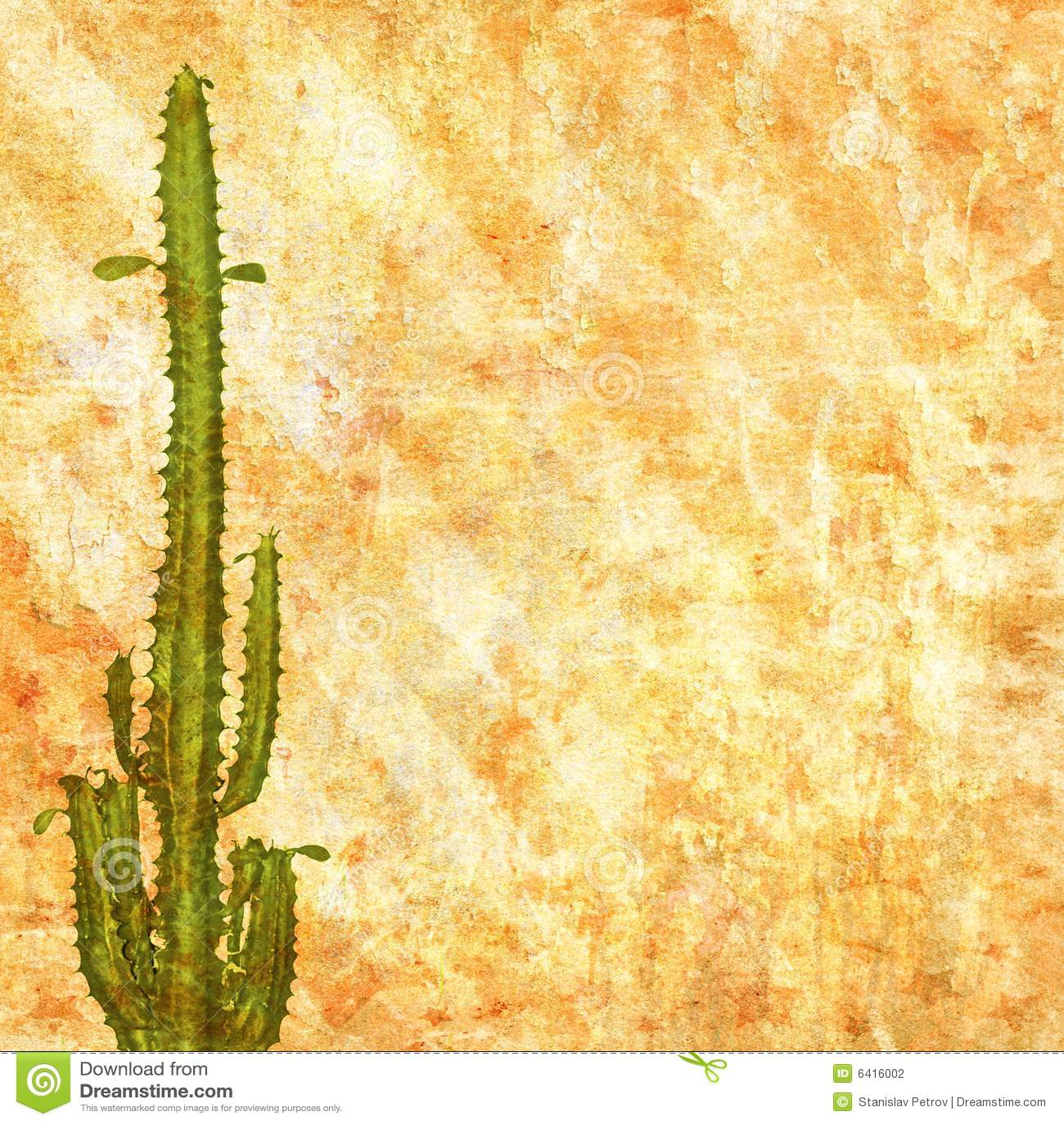 Papier Peint Abstrait Avec Le Cactus Illustration Stock