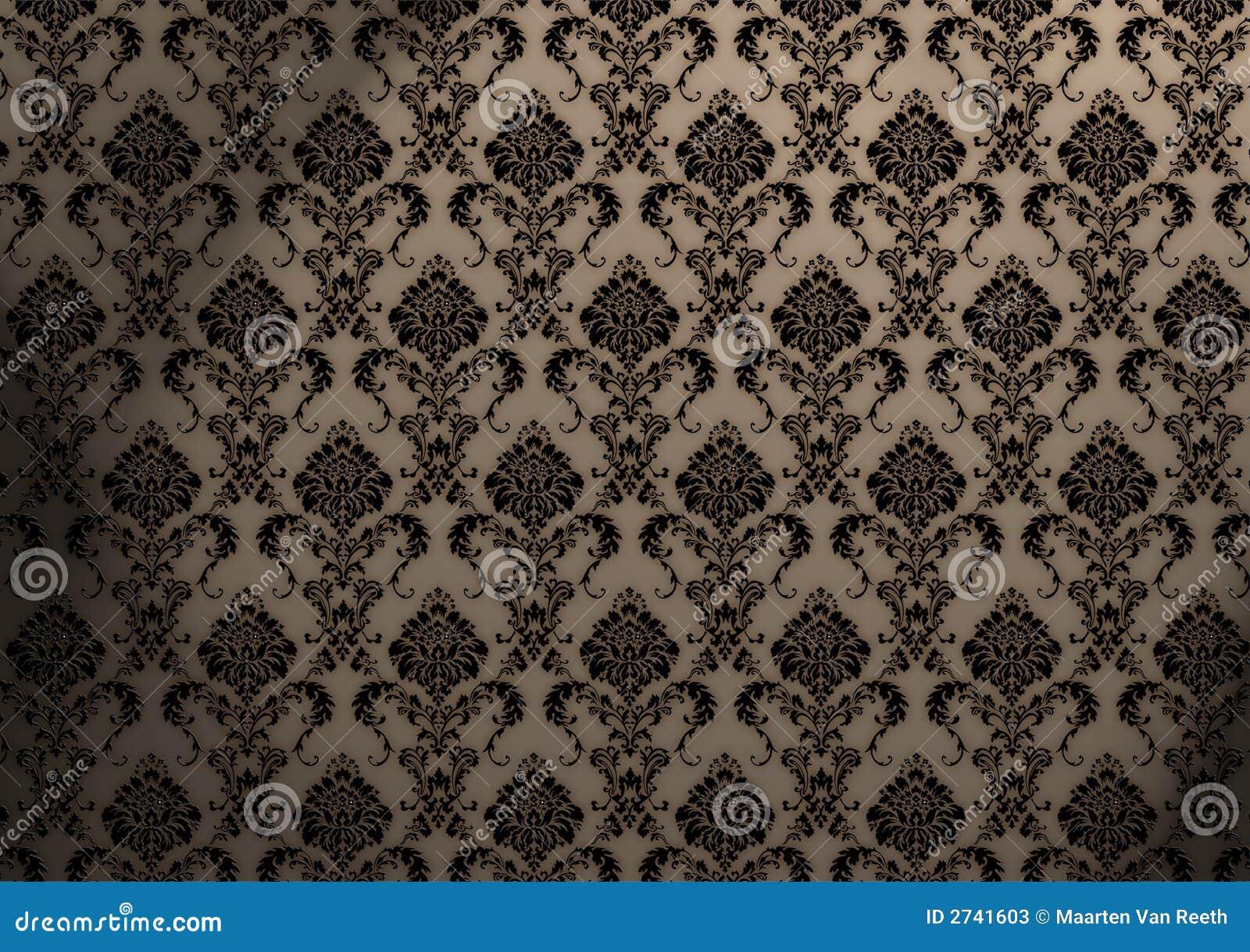 papier peint baroque illustration stock illustration du floral 2741603. Black Bedroom Furniture Sets. Home Design Ideas