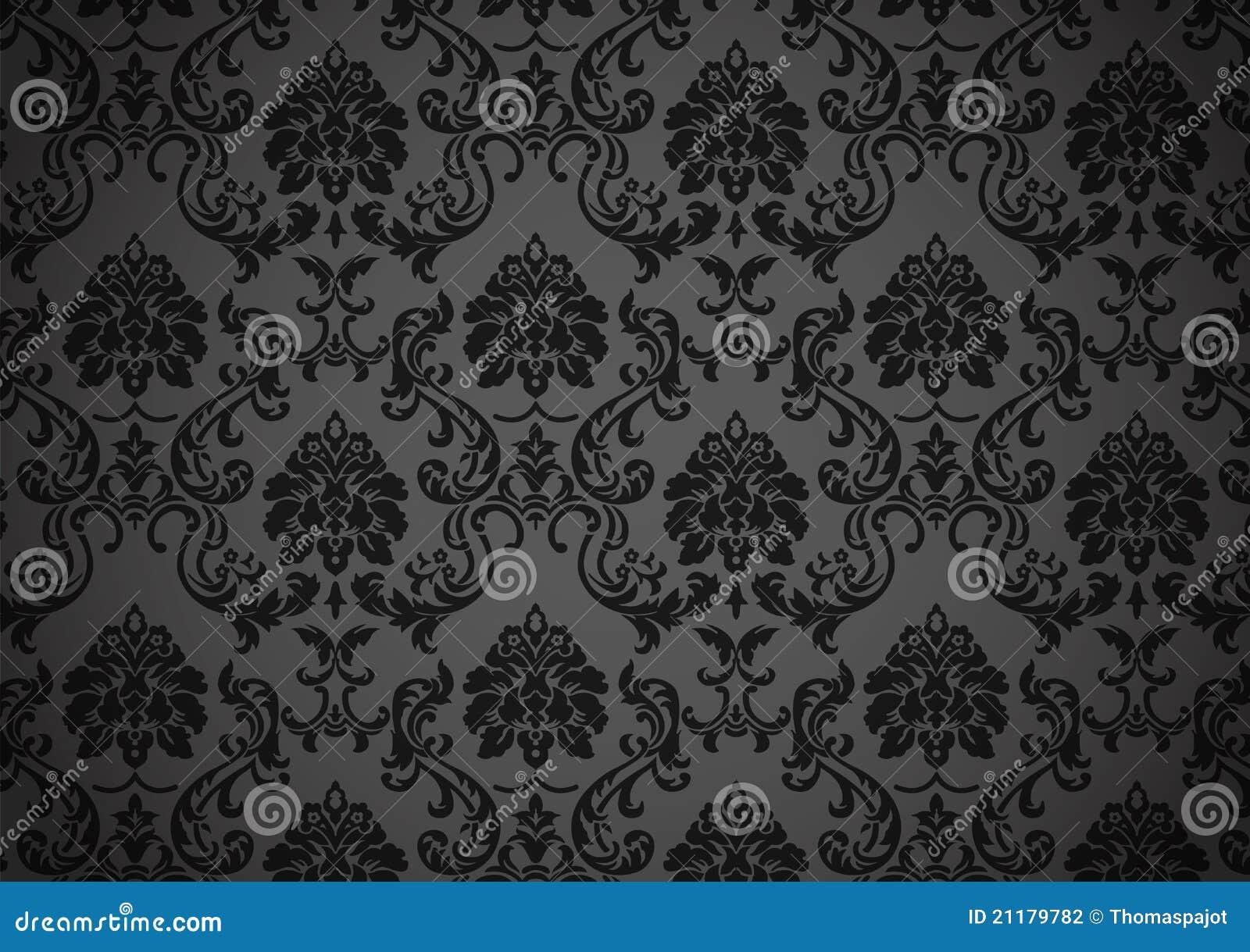 Papier peint baroque foncé illustration de vecteur. Illustration du ...