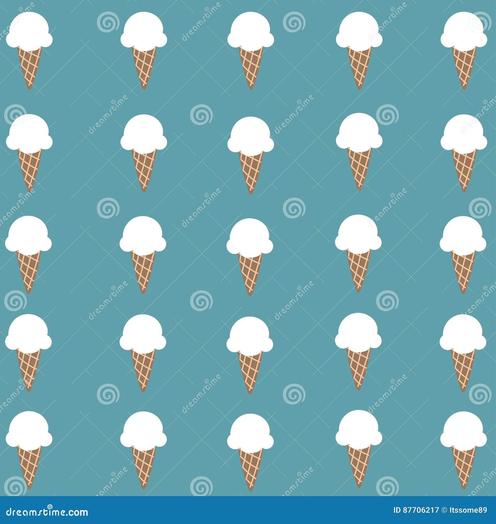 Papier peint blanc mignon de cornet de crème glacée