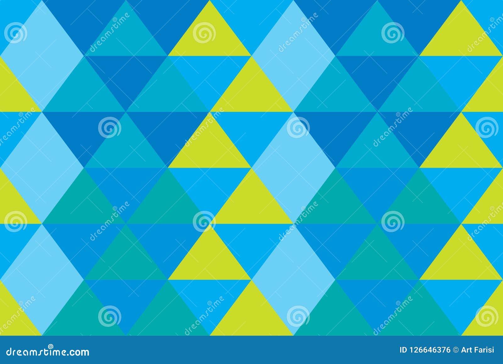 Papier Peint Bleu Orange De Triangle De Bannière De Texture