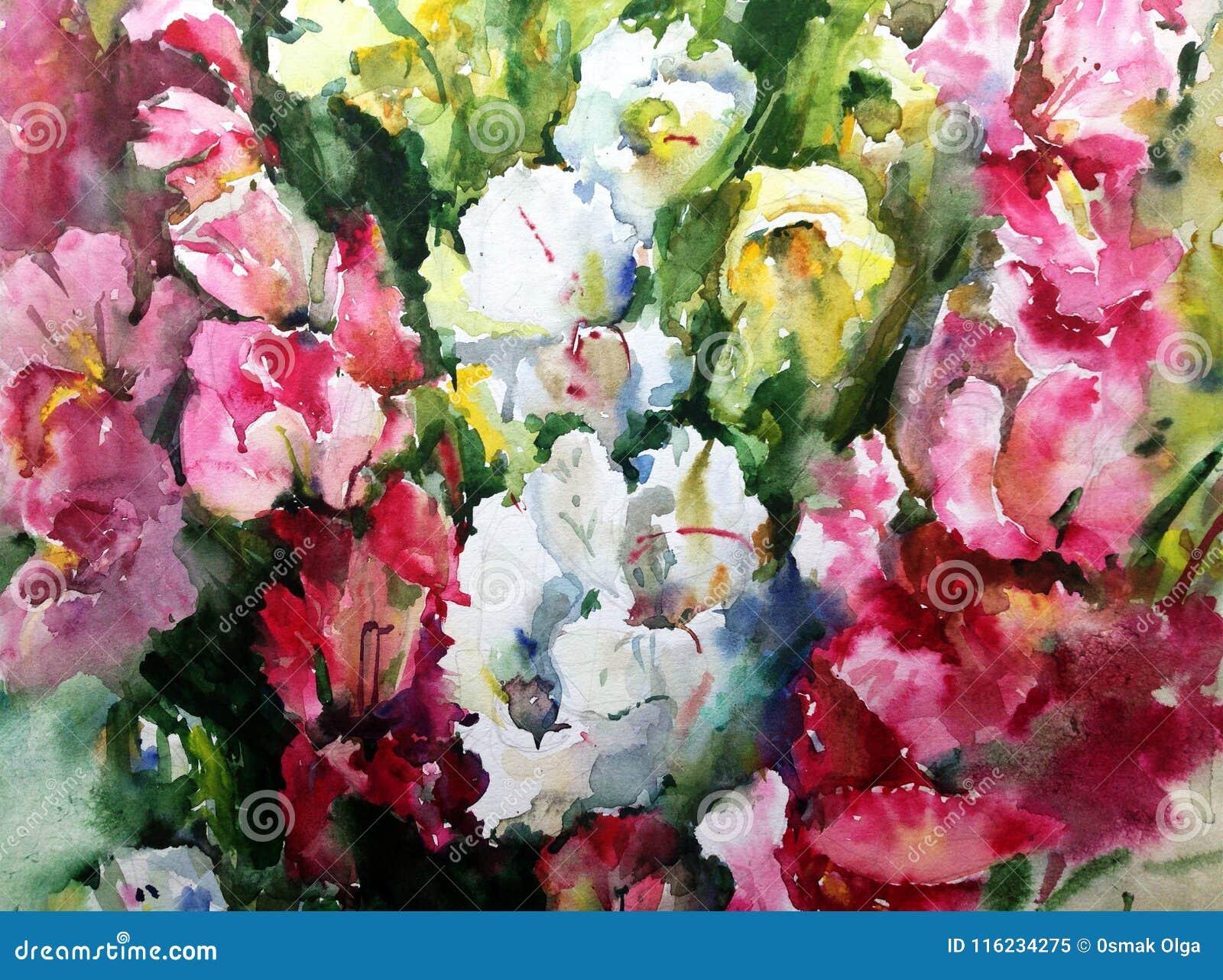 Papier Peint Brouillé Lumineux Floral De Main Texturisée De ...