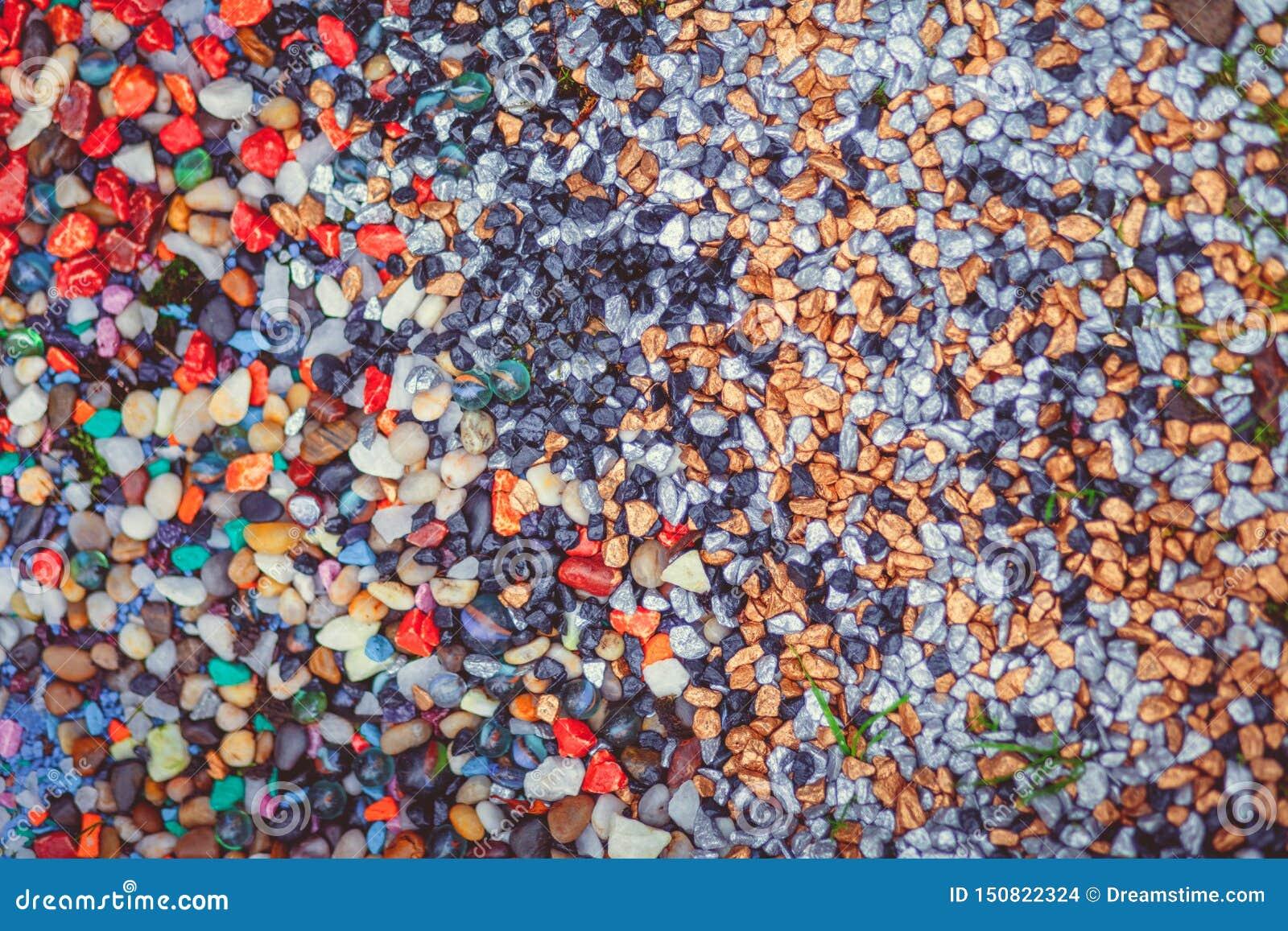 Papier peint coloré de fond de pierres de rivière