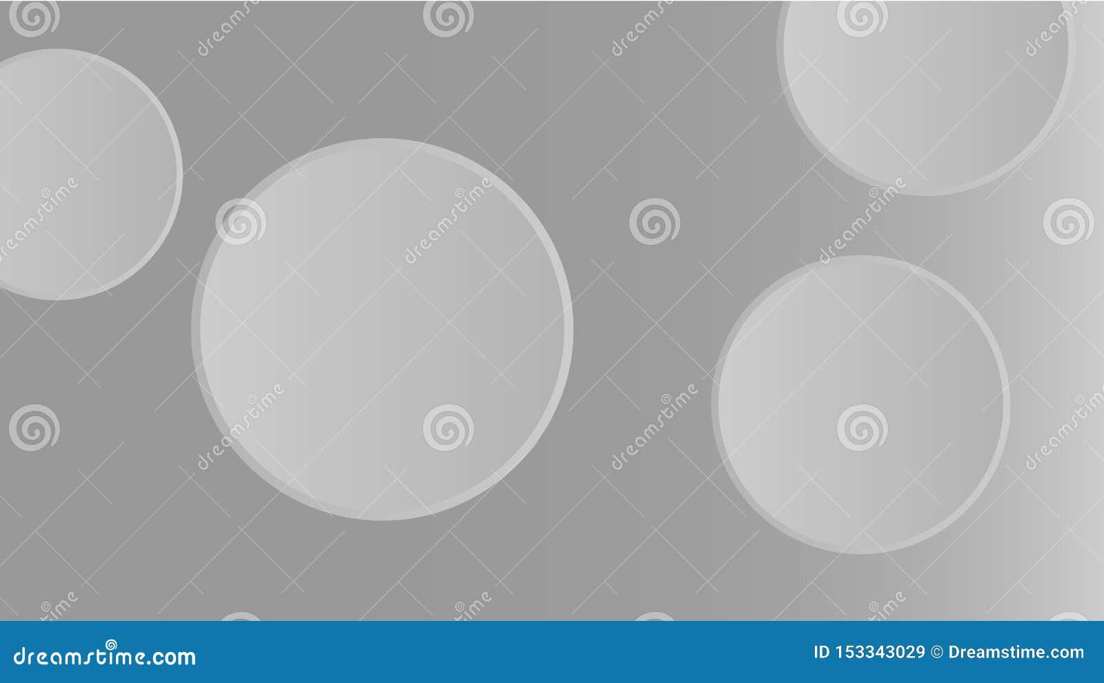 Papier peint 3D abstrait gris | formes rondes