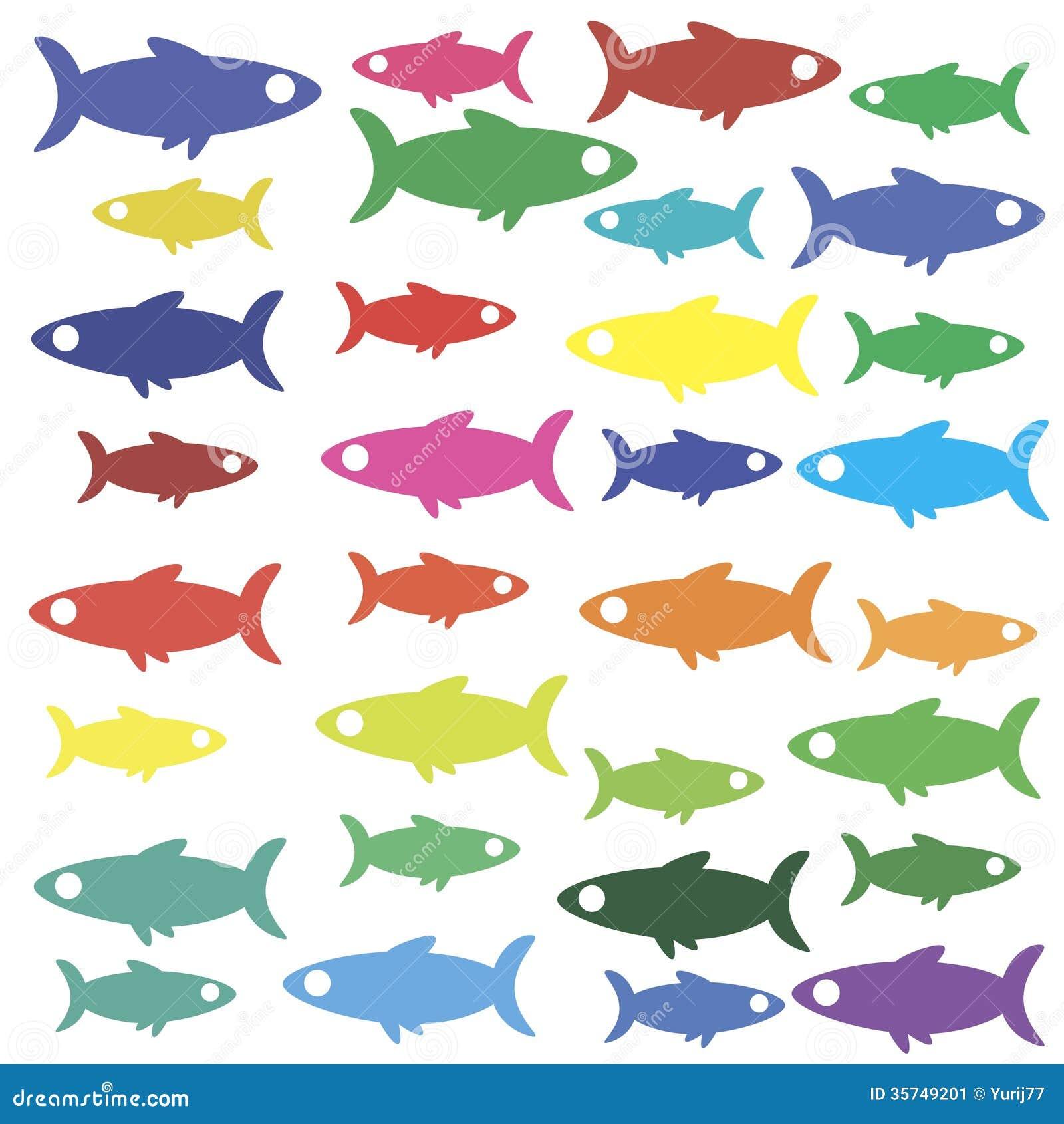 Papier peint d 39 ic ne de poissons image stock image 35749201 - Papier peint poisson rouge ...