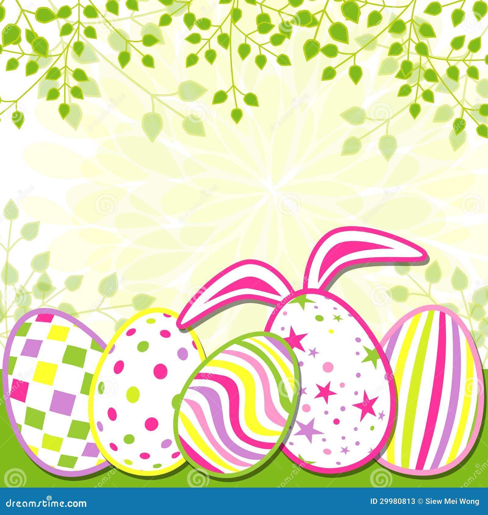 Carte de voeux de vacances de Pâques de printemps