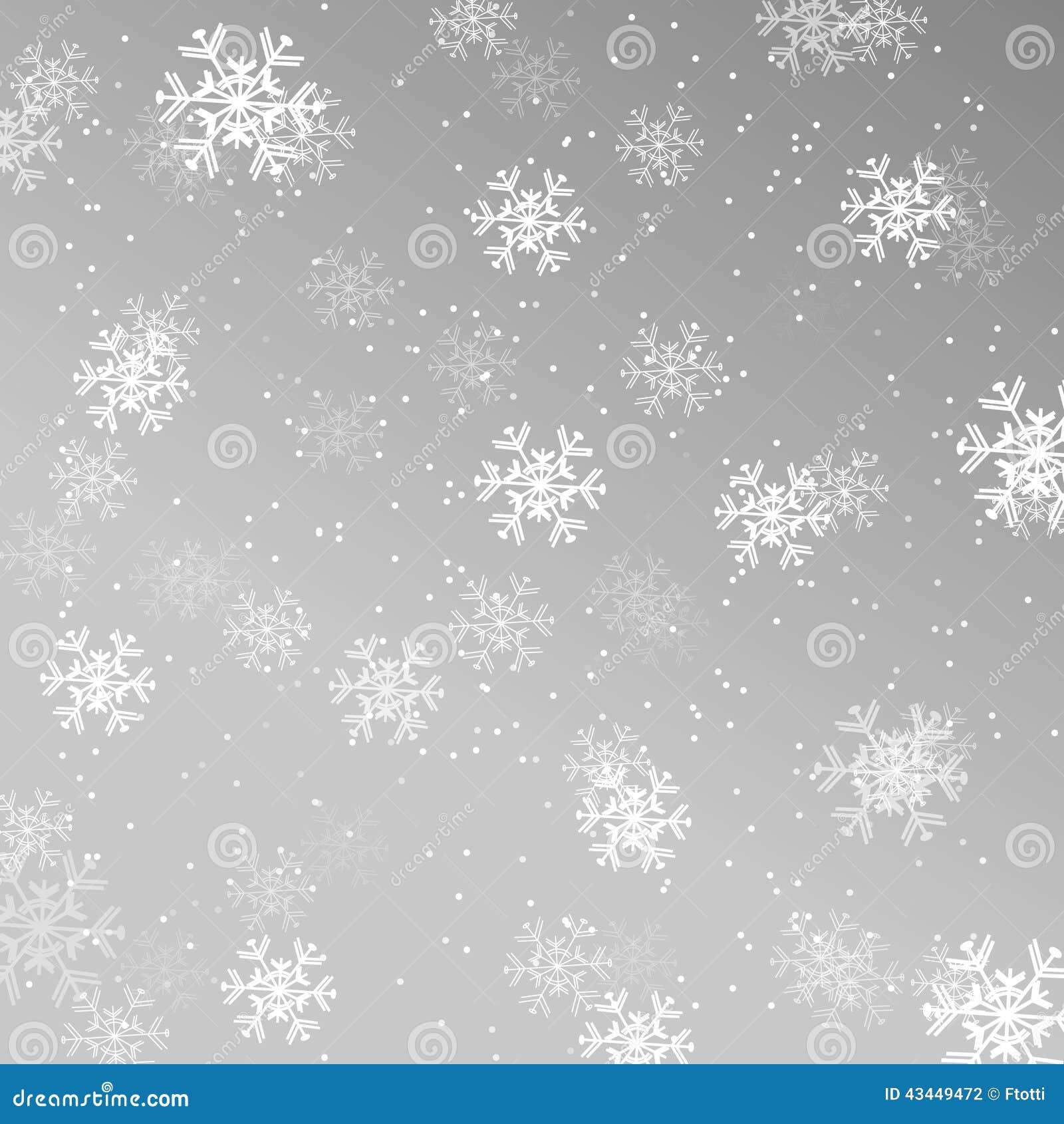 Papier Peint De Noël, Fond Avec Des Flocons De Neige Illustration