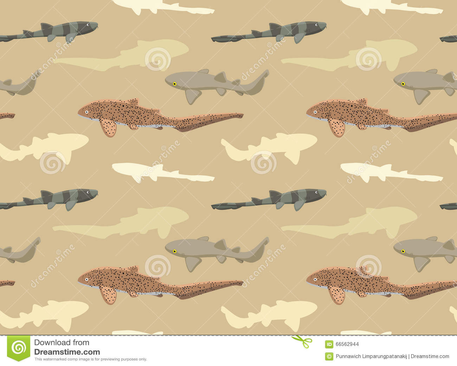 Papier peint 9 de requins illustration de vecteur. Illustration du zèbre - 66562944
