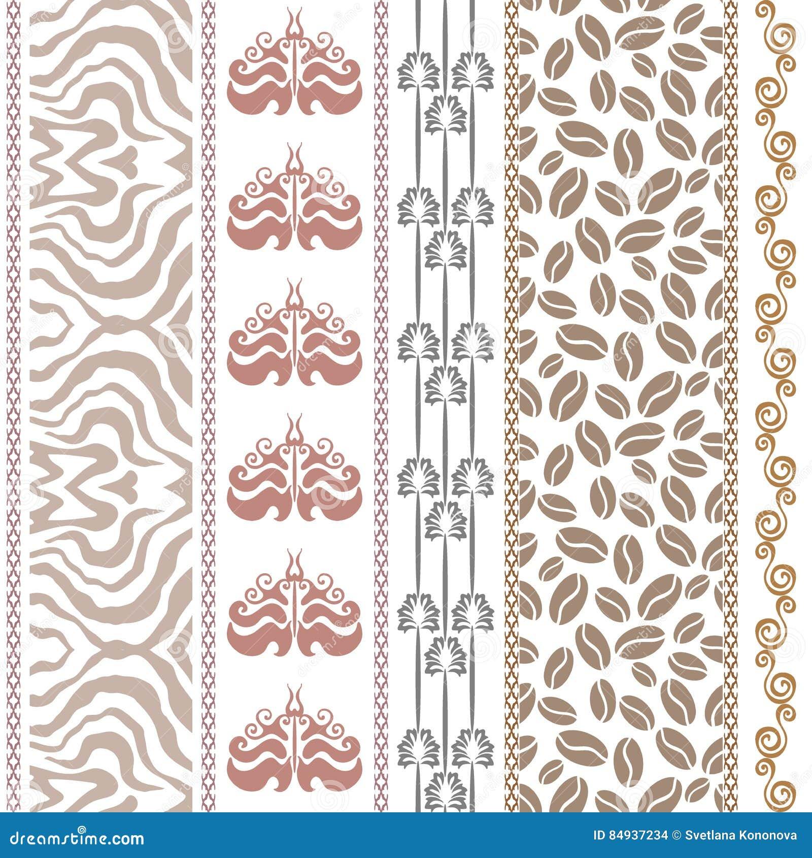 Papier peint en soie de vintage d 39 art d co avec des motifs ethniques et d - Papier peint avec motif ...