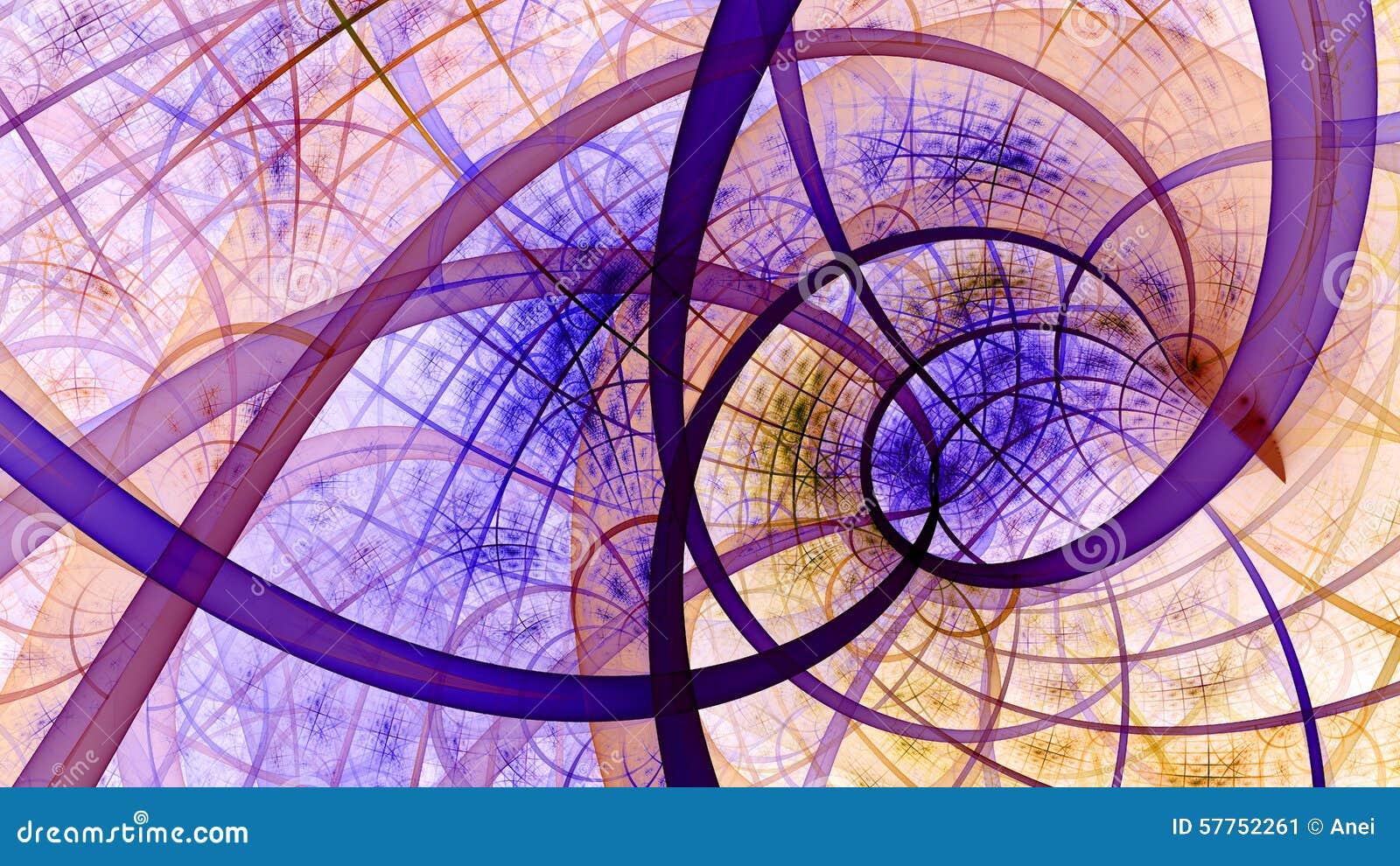 Papier Peint En Spirale Avec Un Modele Entrelace Complexe Dans Le
