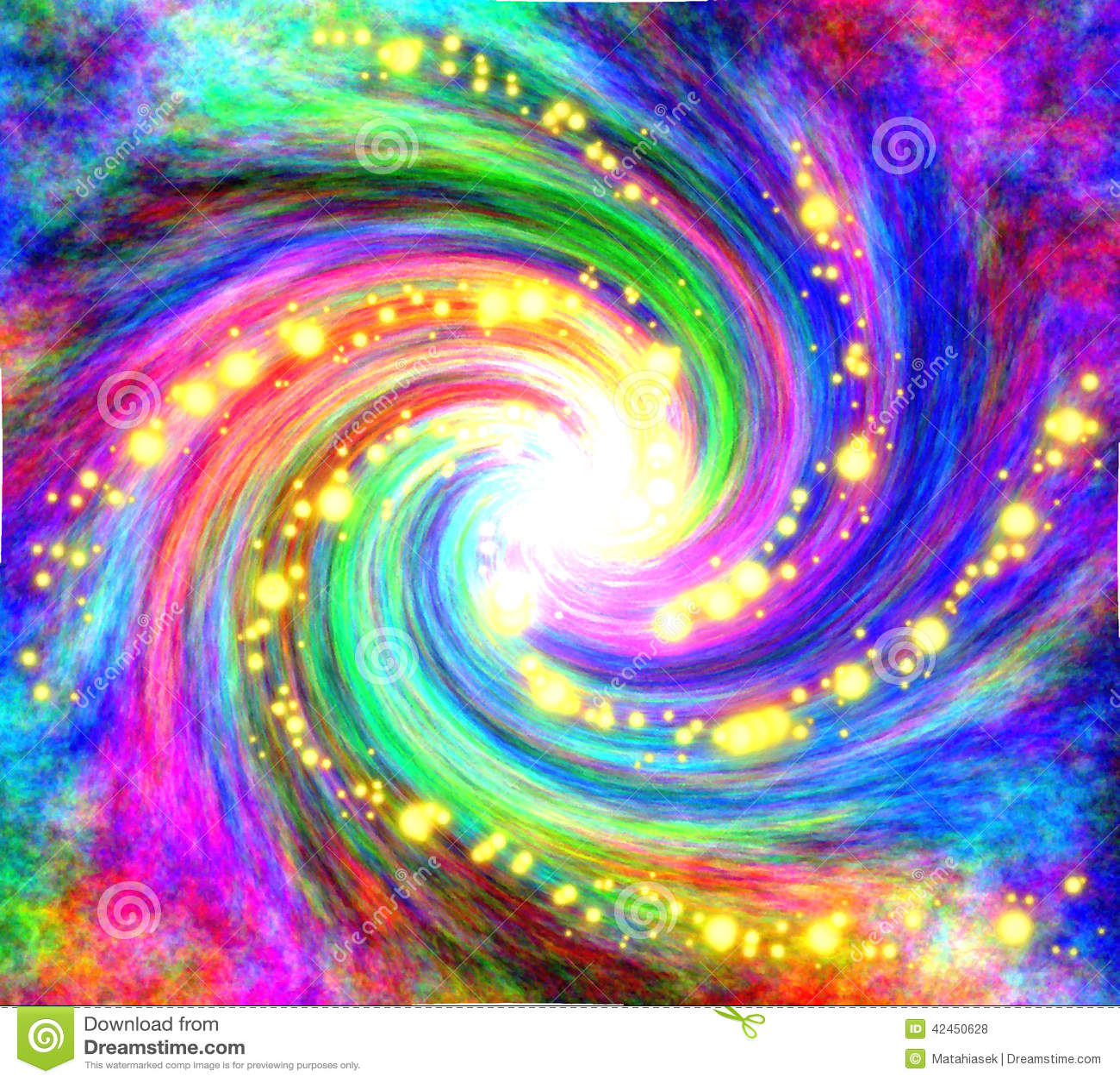 Attractive Papier Peint Galaxie #2: Papier-peint-en-spirale-magique-dans-des-couleurs-barioles-42450628.jpg