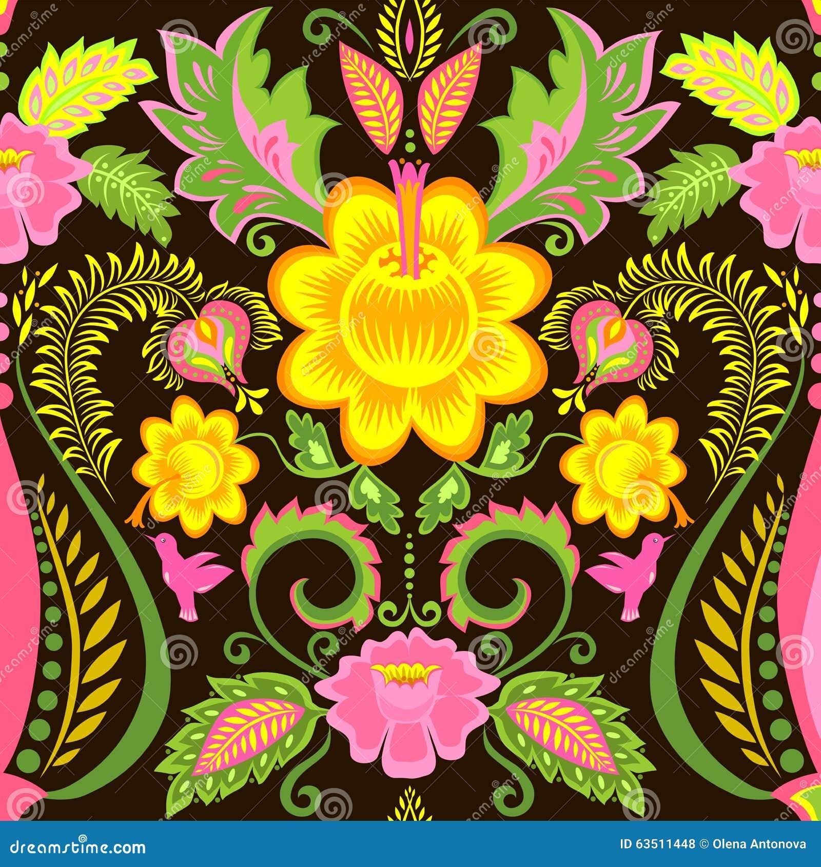 Papier peint vintage fleuri papier peint vintage fleuri fond noir autres vues autres vues - Papier peint fleuri vintage ...