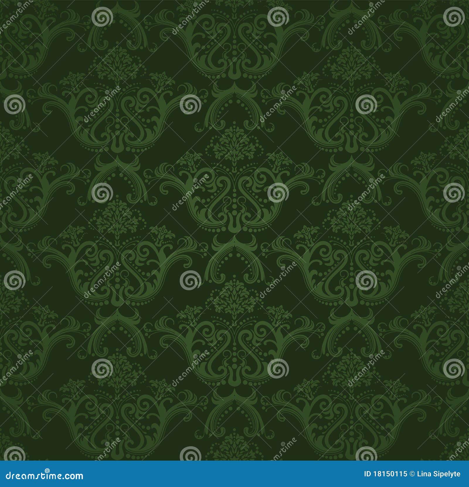 papier peint floral vert fonc sans joint photo libre de droits image 18150115. Black Bedroom Furniture Sets. Home Design Ideas