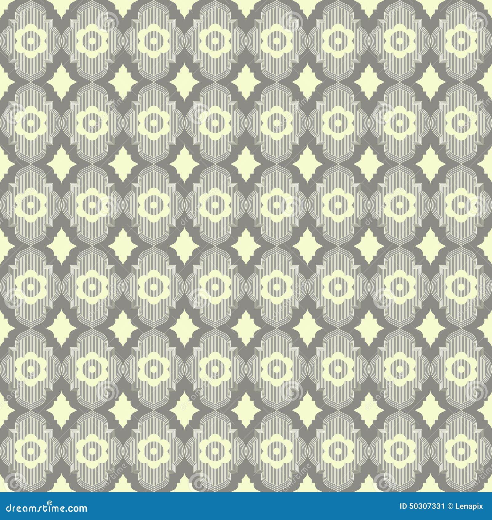 Papier Peint Geometrique De Vintage Illustration De Vecteur