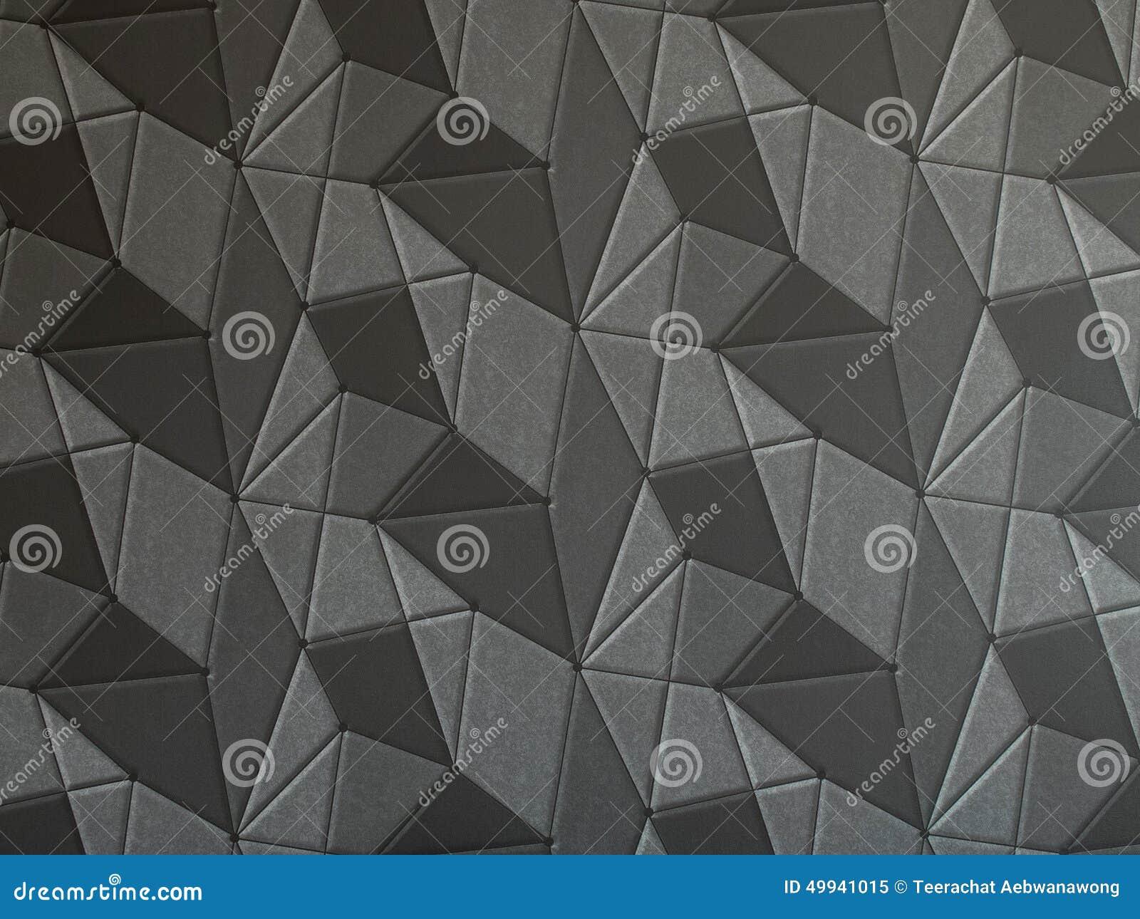 Papier Peint Geometrique Gris Fonce De La Texture 3d