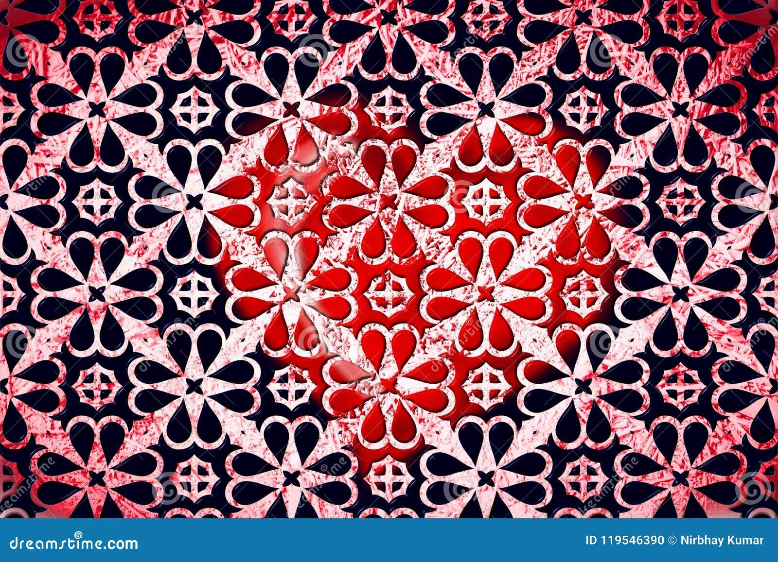 Papier Peint Geometrique Rouge Et Noir Photo Stock Image