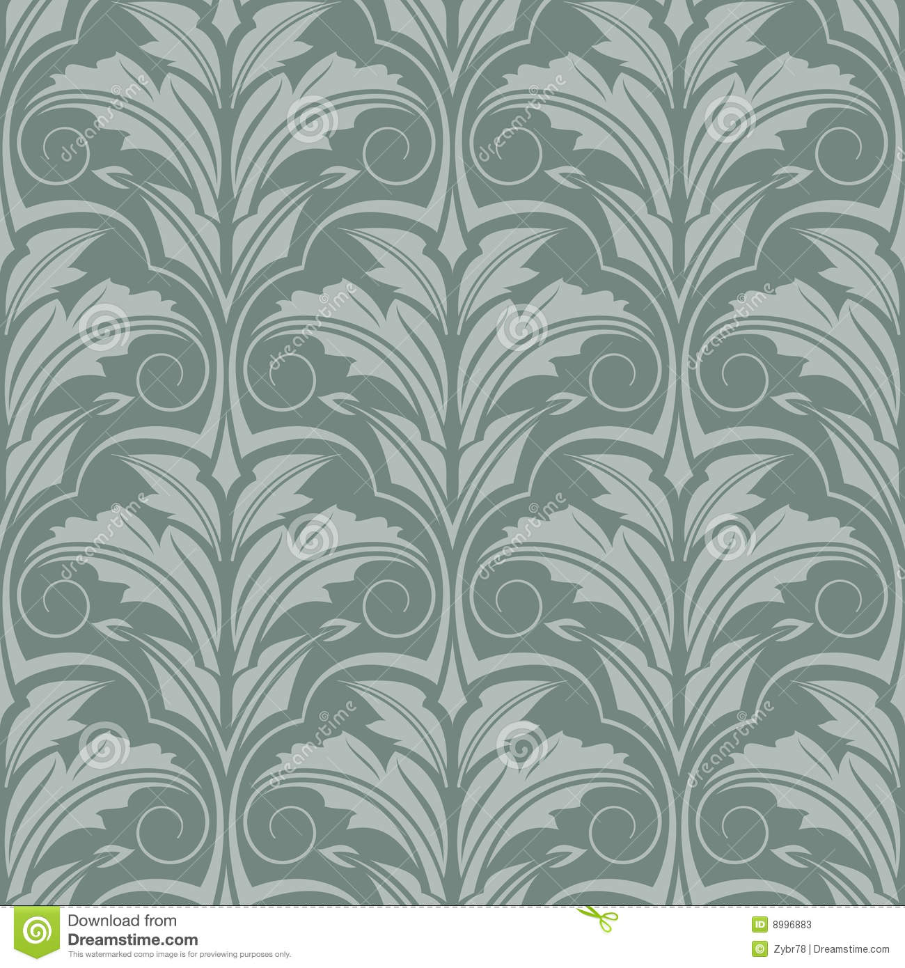 papier peint gris vert illustration de vecteur illustration du feuillage 8996883. Black Bedroom Furniture Sets. Home Design Ideas