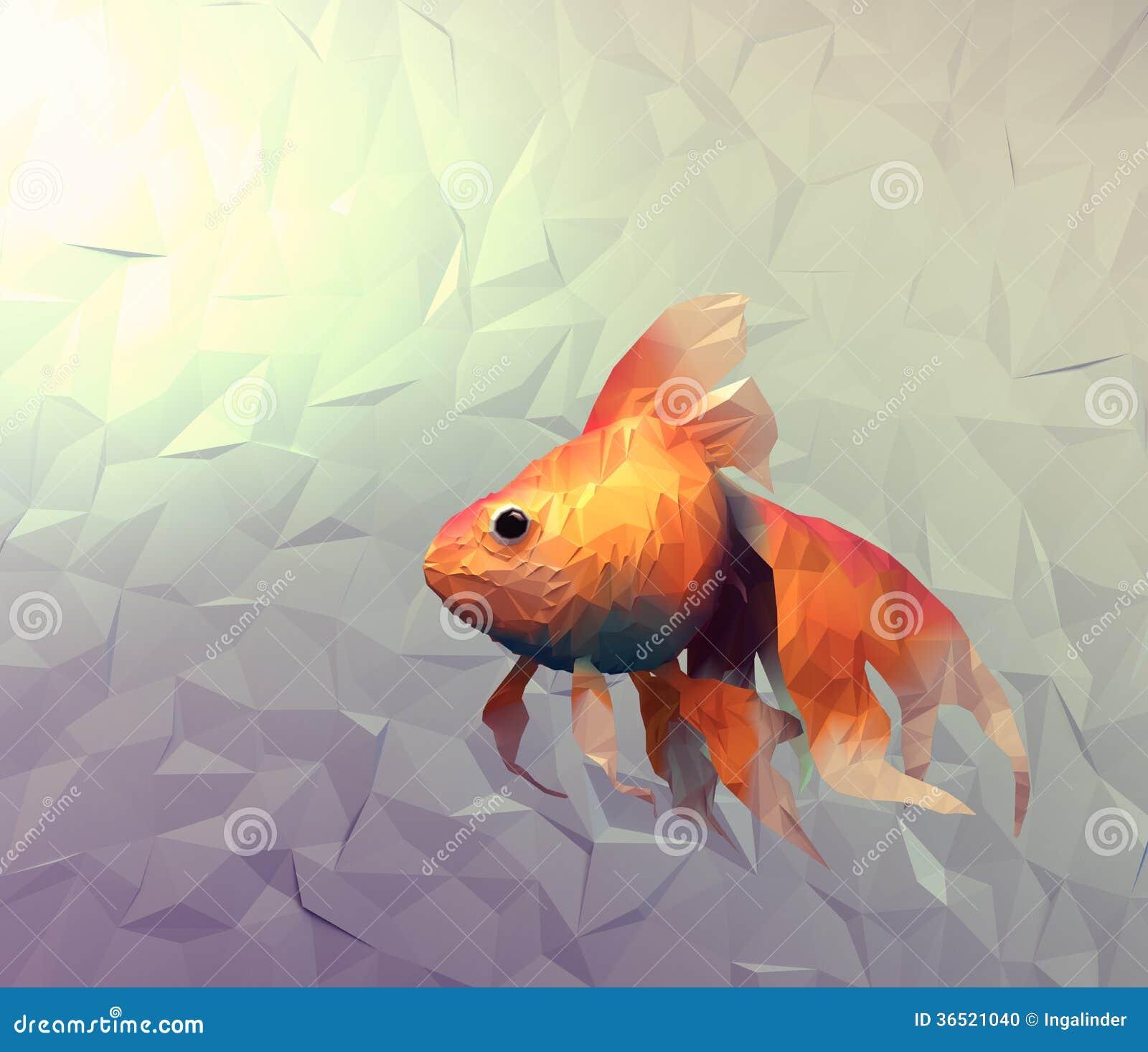 Papier peint moderne de poisson rouge illustration de la surface plane 3d de - Papier peint poisson rouge ...