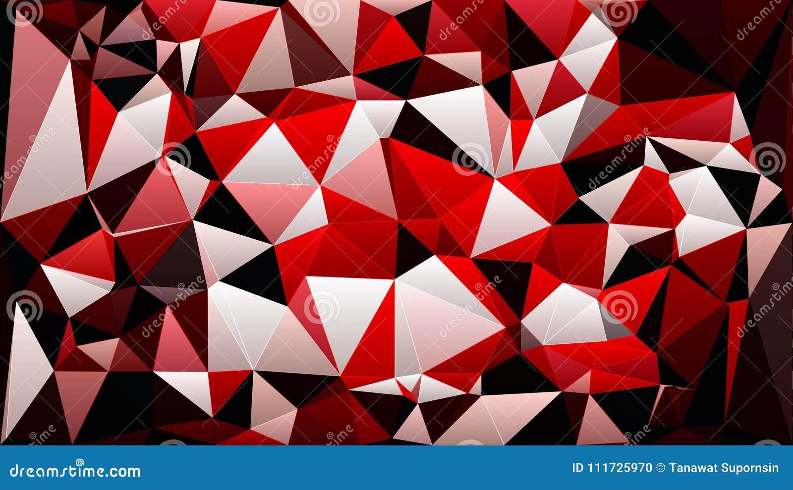 Papier Peint Noir Blanc Rouge Abstrait De Triangle De