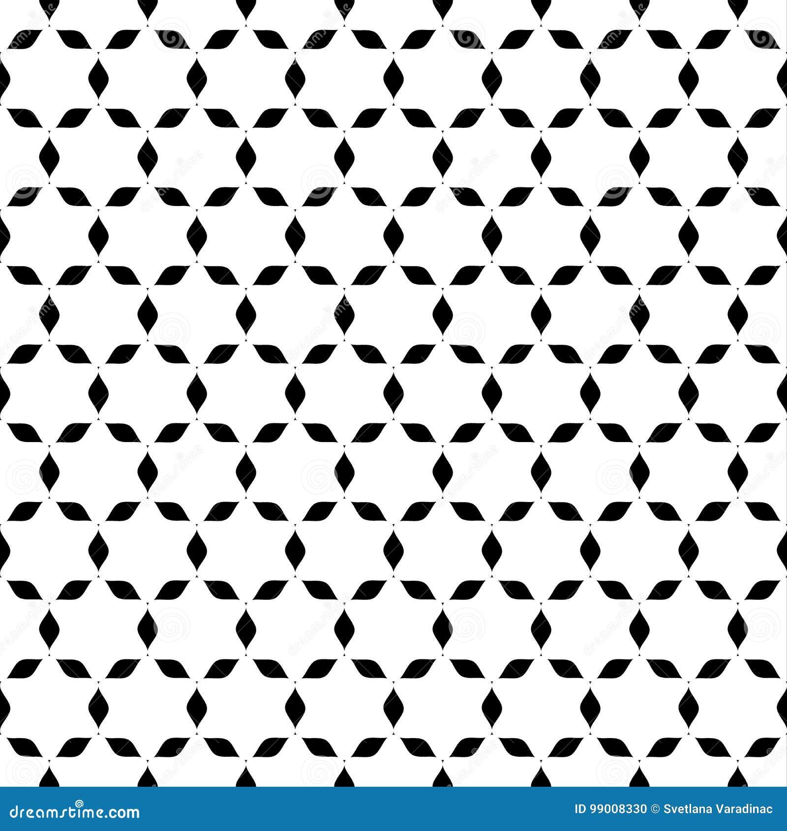 Papier Peint Noir Et Blanc D Etoile Abstraite Sans Couture
