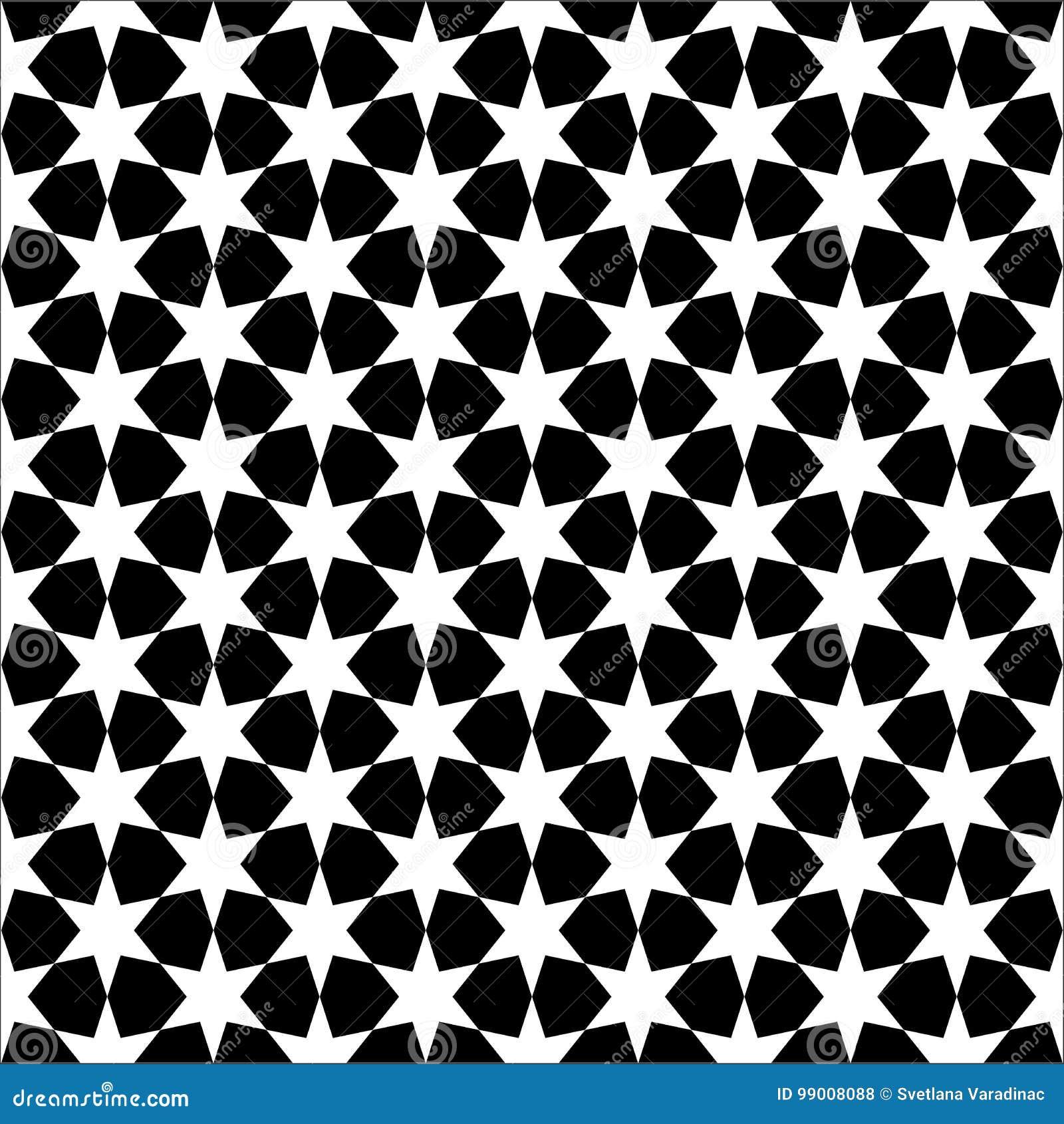 Papier Peint Noir Et Blanc Ou Fond D Etoile Sans Couture Abstraite