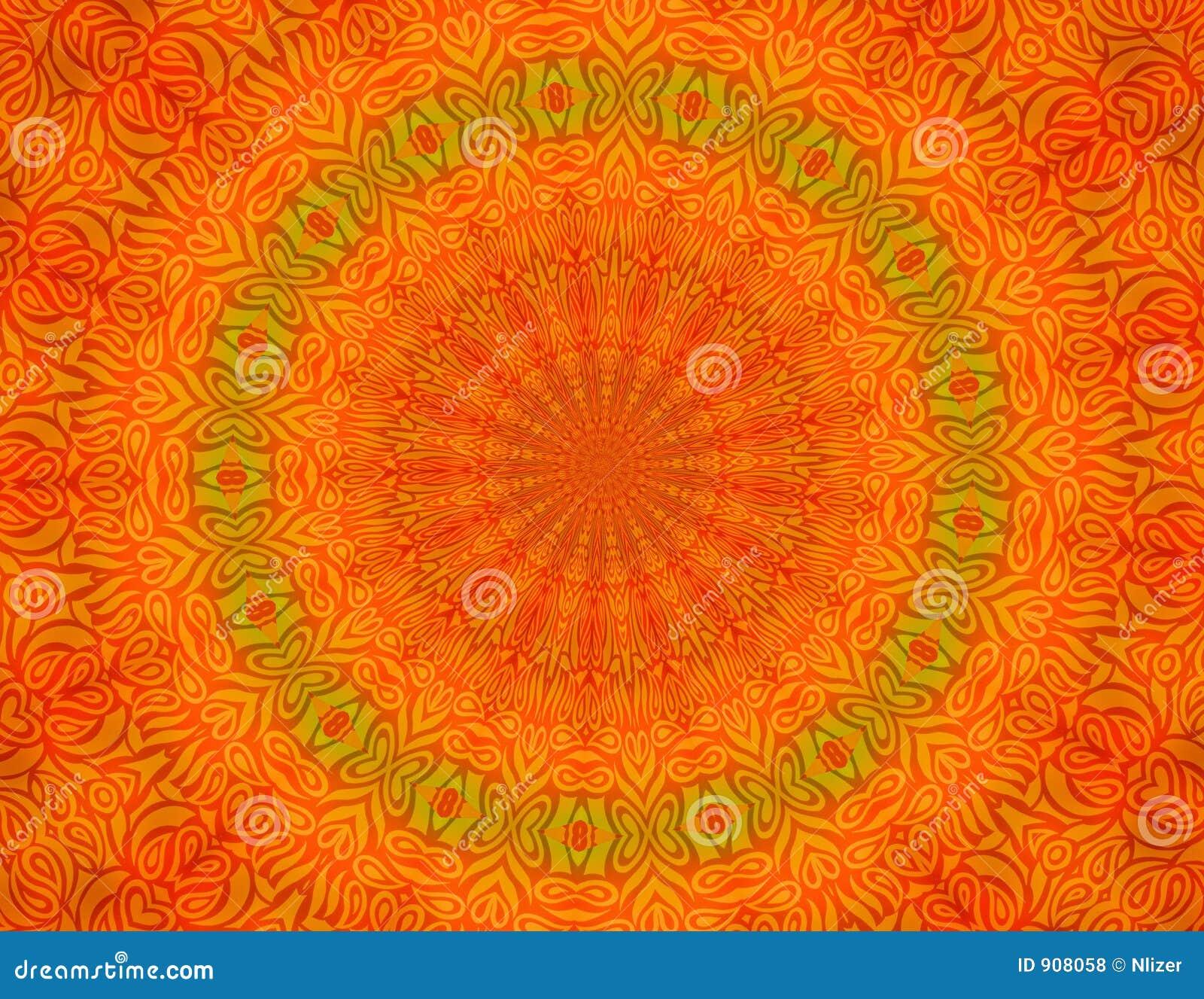 papier peint orange de fond de batik illustration stock. Black Bedroom Furniture Sets. Home Design Ideas
