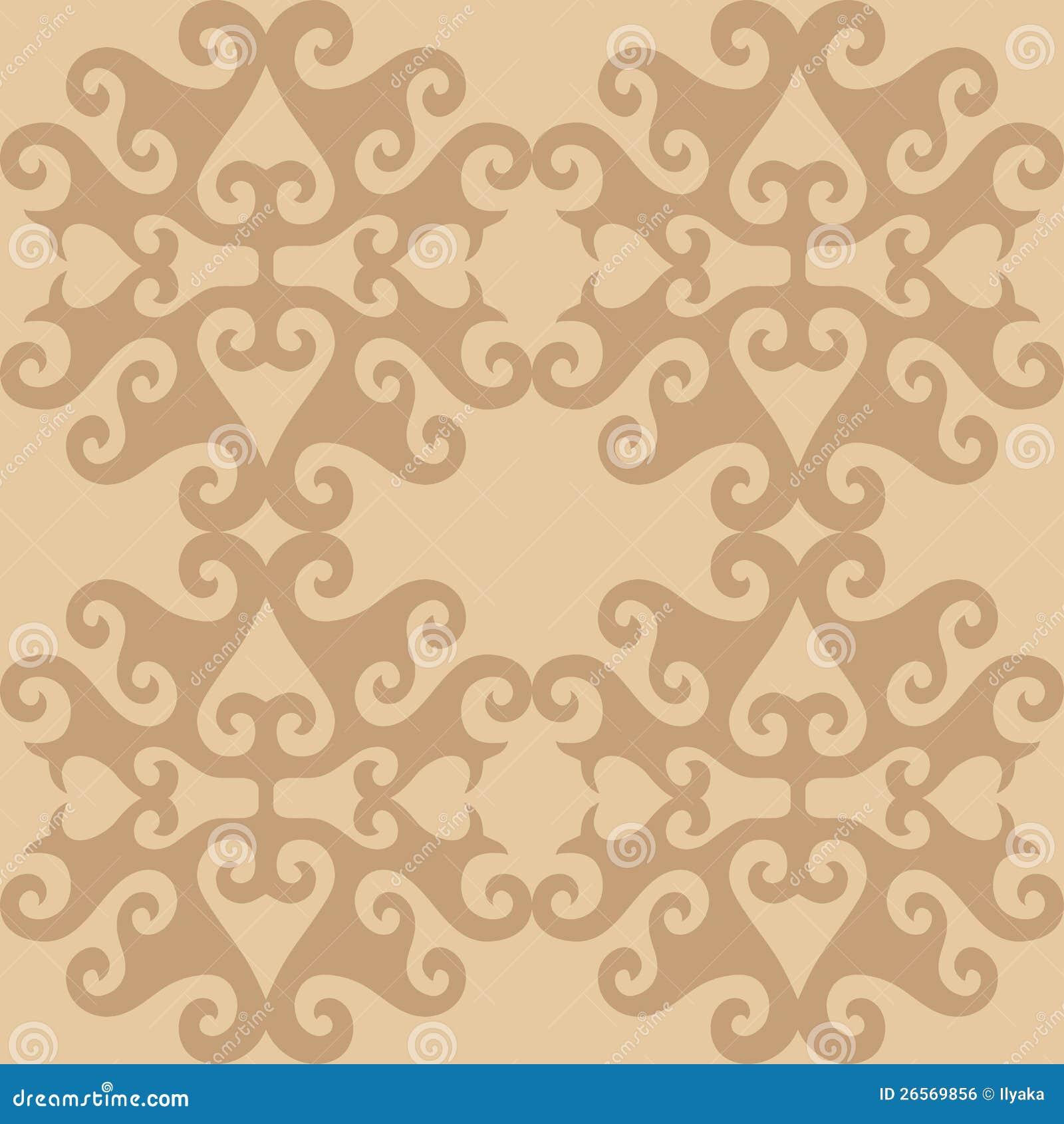 papier peint ornemental beige oriental sans joint image. Black Bedroom Furniture Sets. Home Design Ideas
