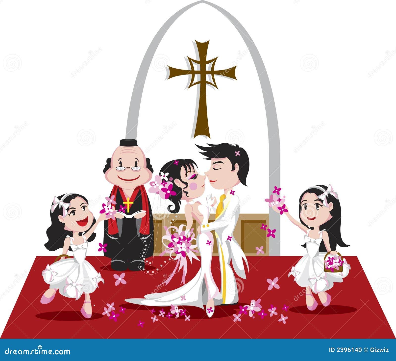Une illustration détaillée sur un mariage romantique