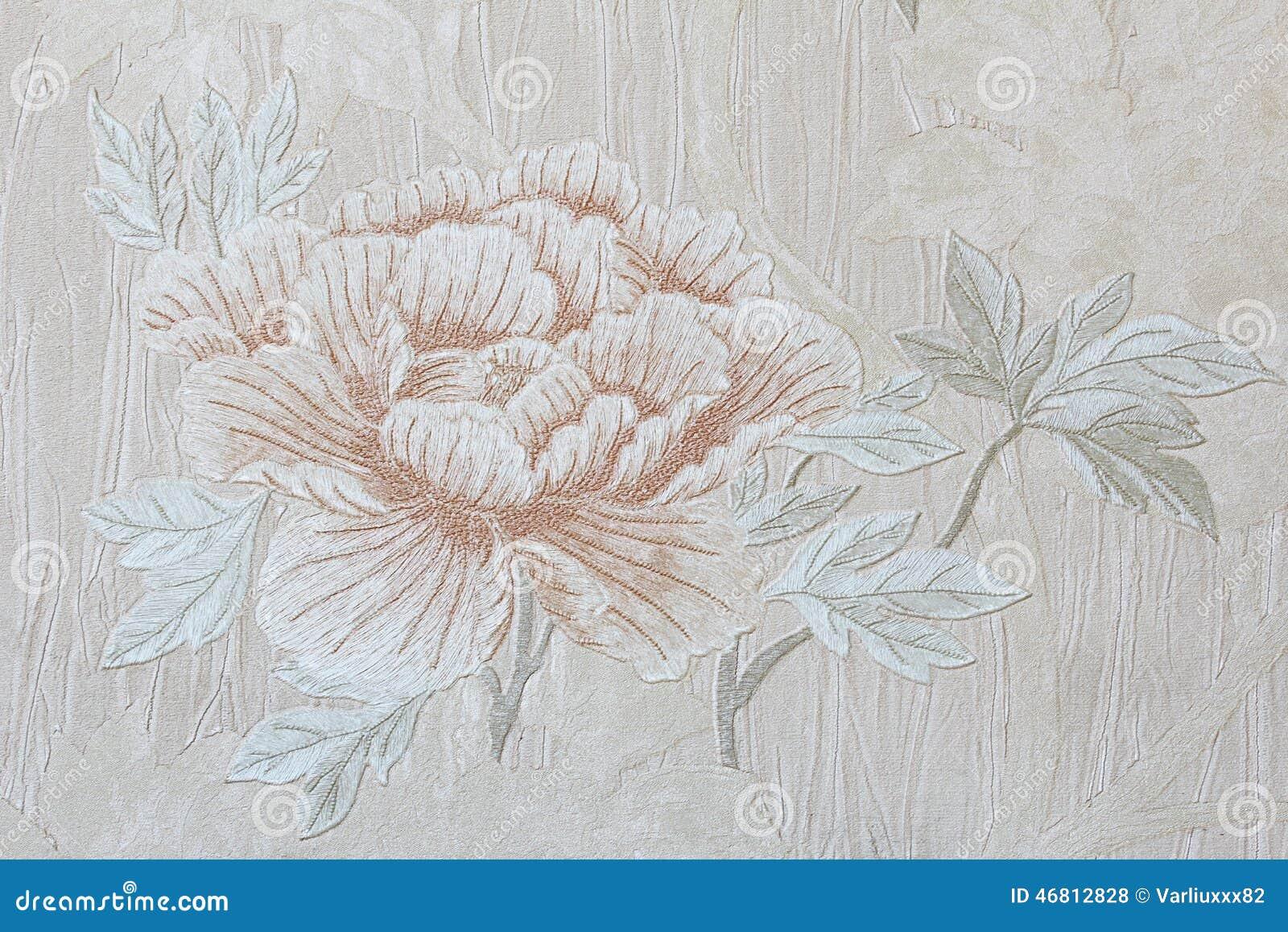 papier peint romantique floral de rose photo stock image 46812828. Black Bedroom Furniture Sets. Home Design Ideas