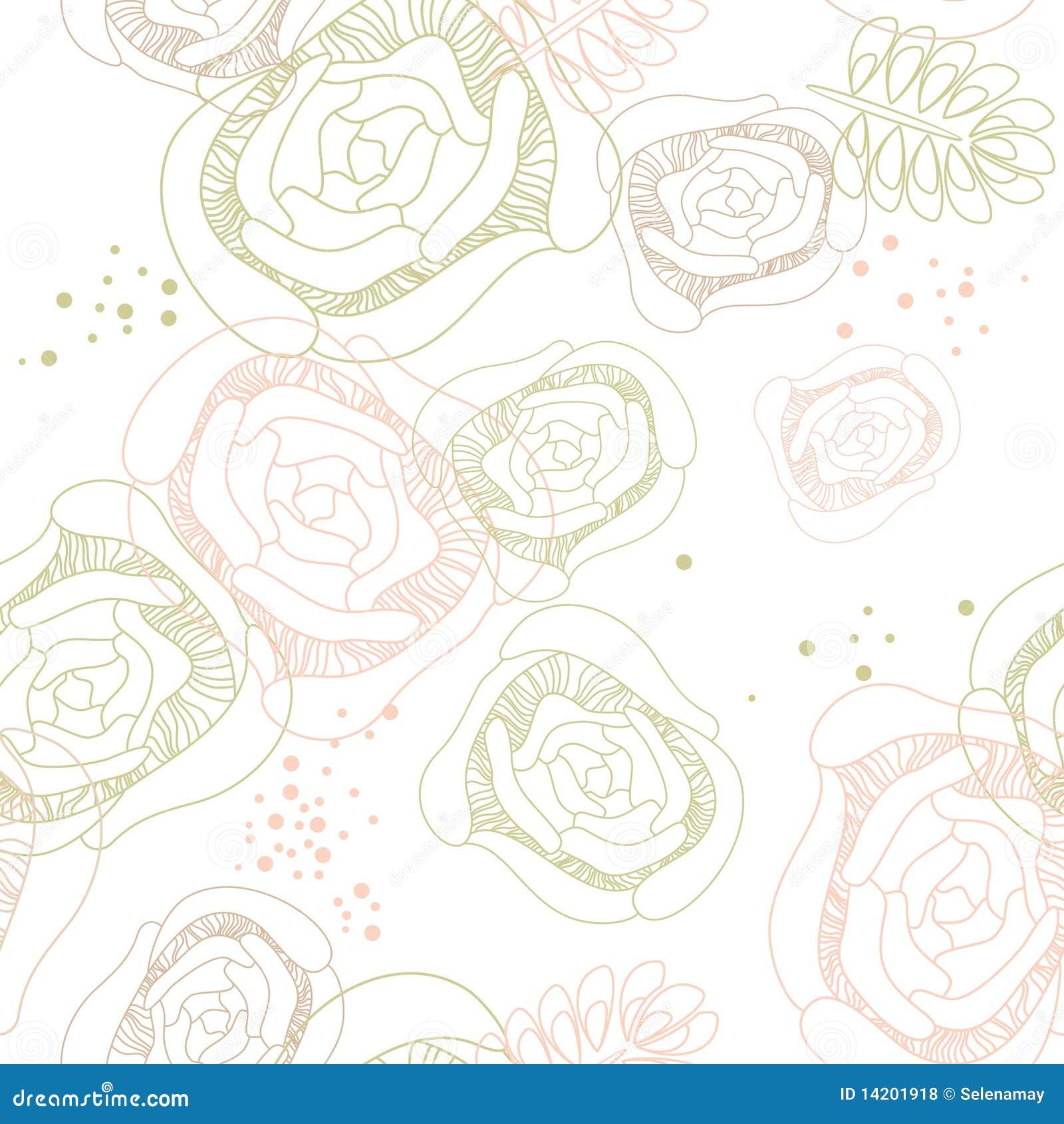 Papier Peint Romantique Sans Joint Illustration De Vecteur