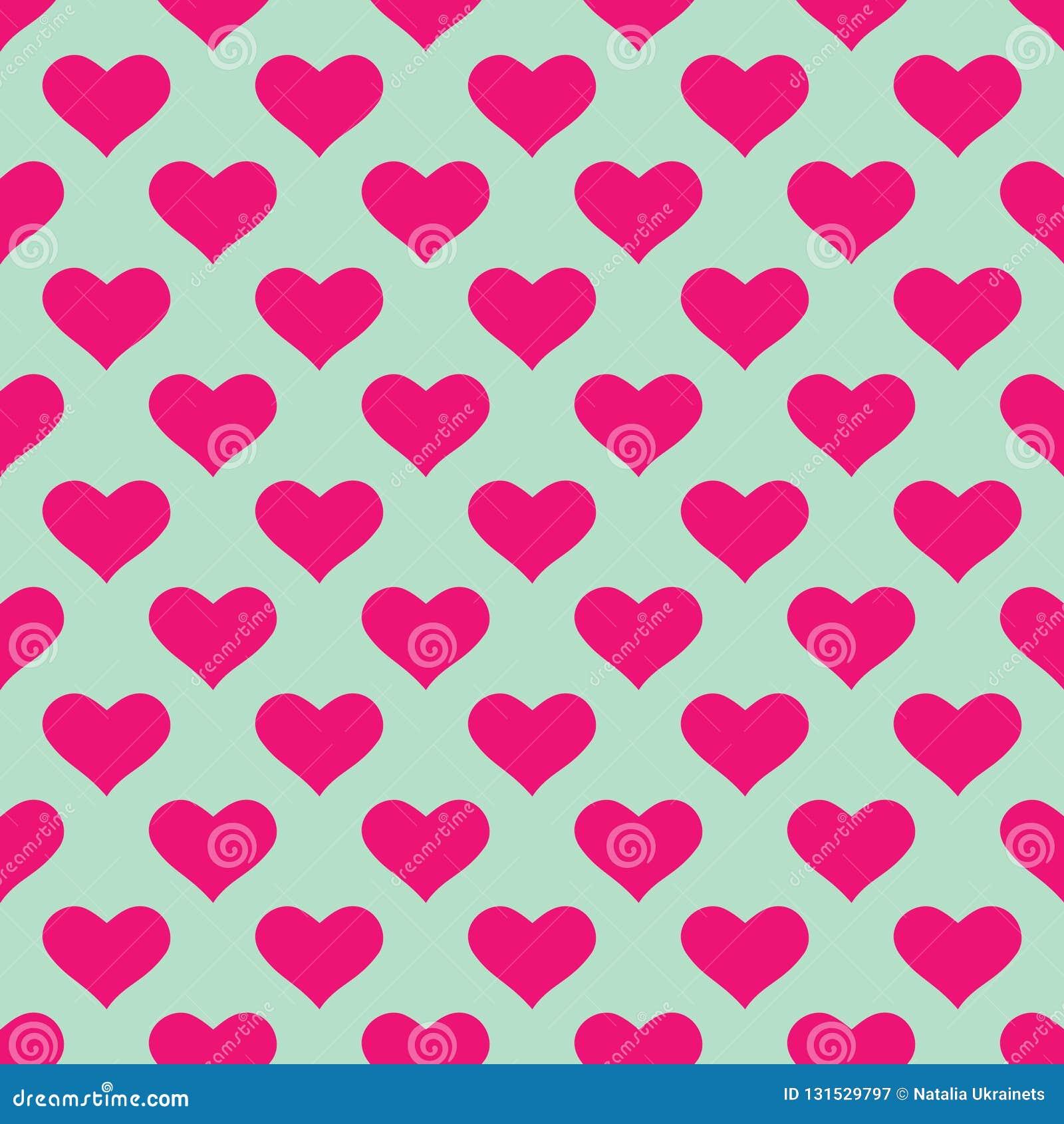 Papier peint rose de coeurs