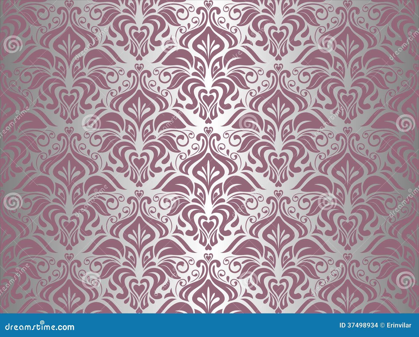 papier peint rose et argent de vintage illustration de. Black Bedroom Furniture Sets. Home Design Ideas