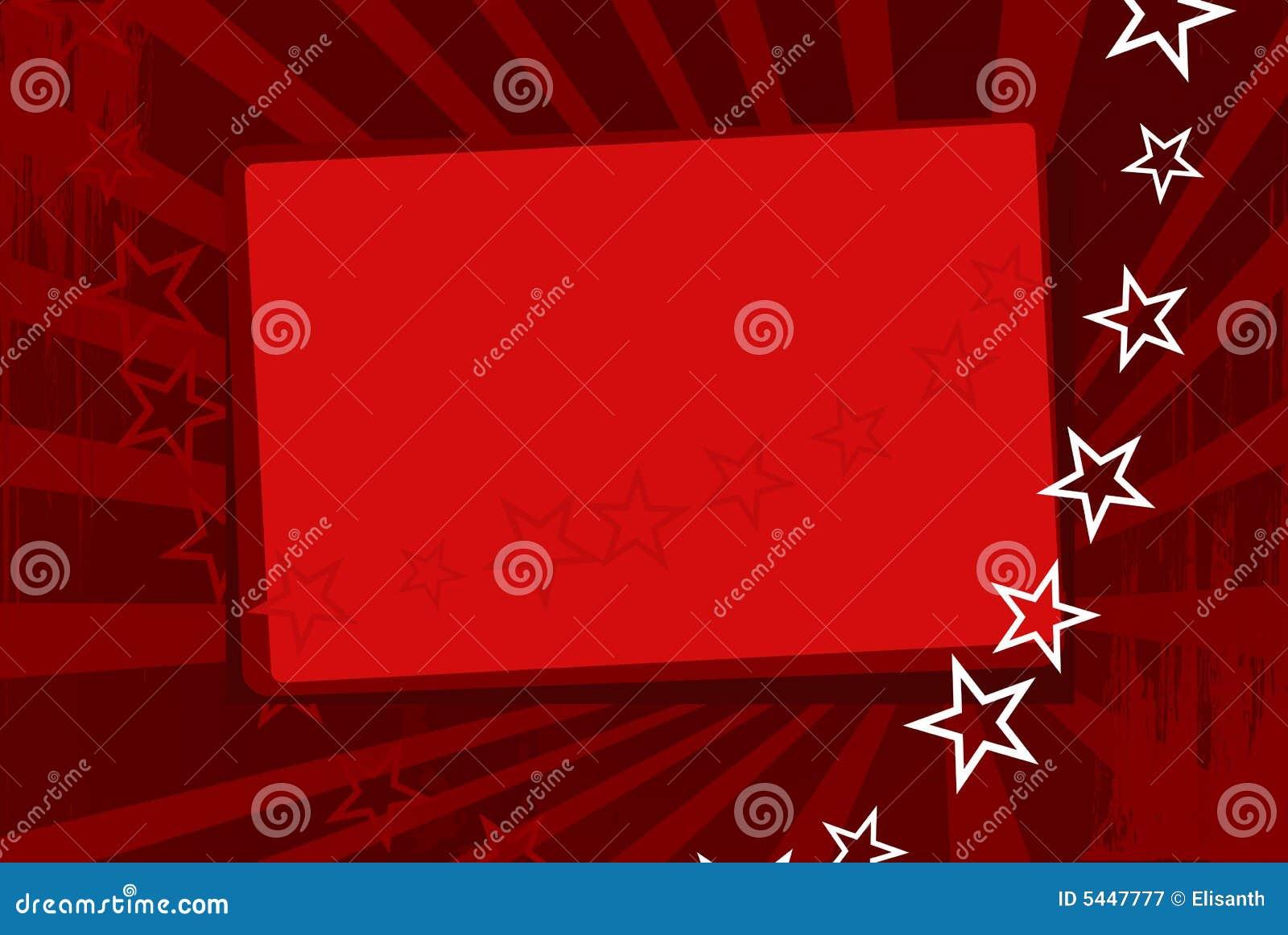 Papier Peint Rouge De Vecteur Avec Des Etoiles Illustration De