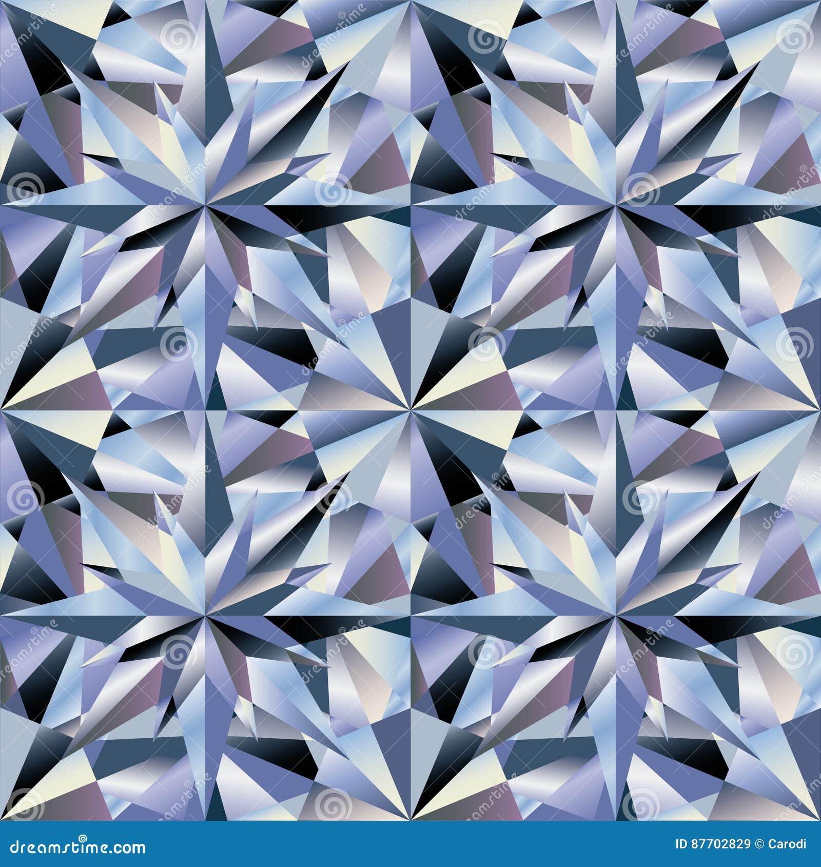 Papier peint sans couture de diamant, vecteur