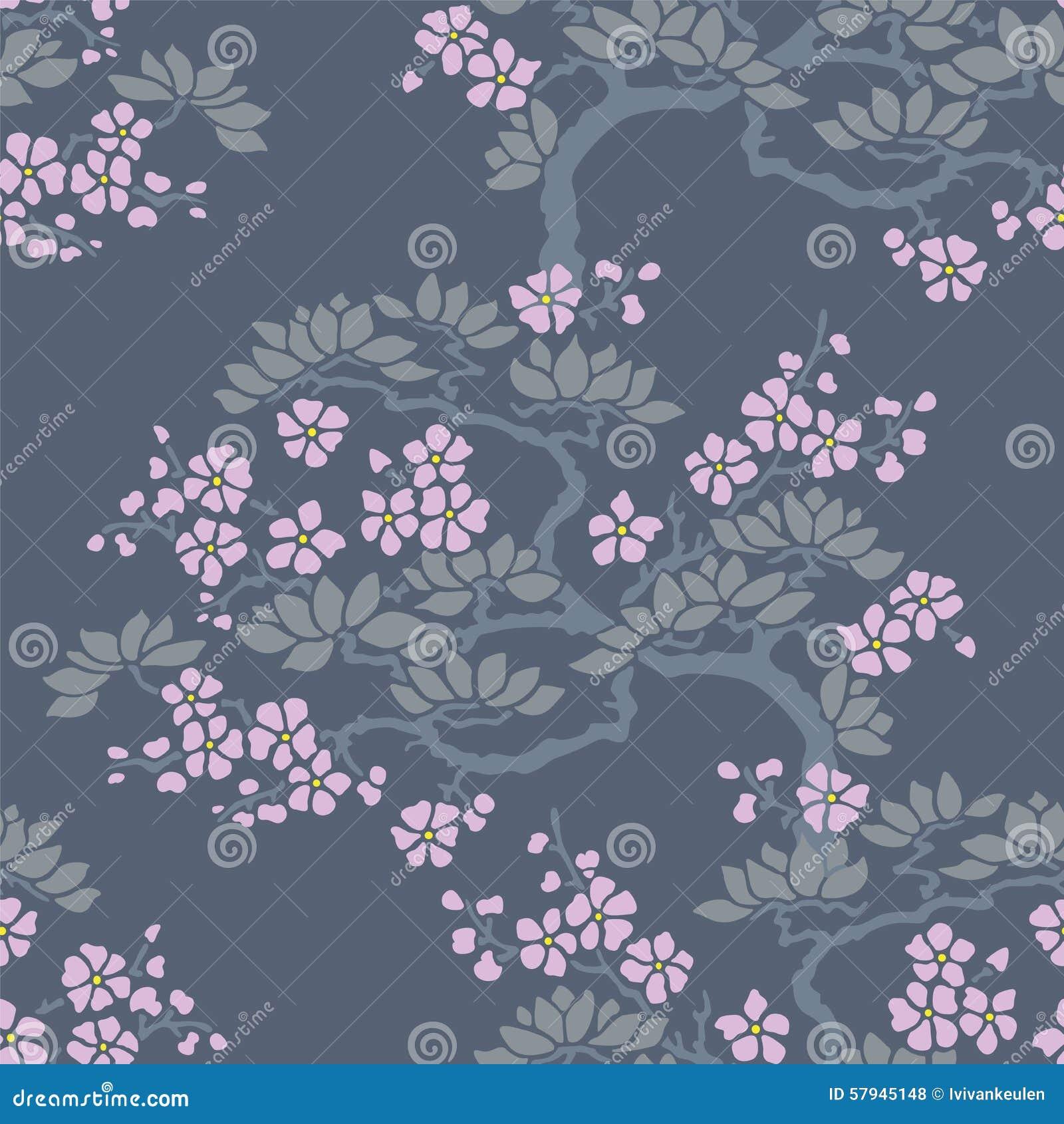 papier peint sans couture de fleur de prune japonaise. Black Bedroom Furniture Sets. Home Design Ideas
