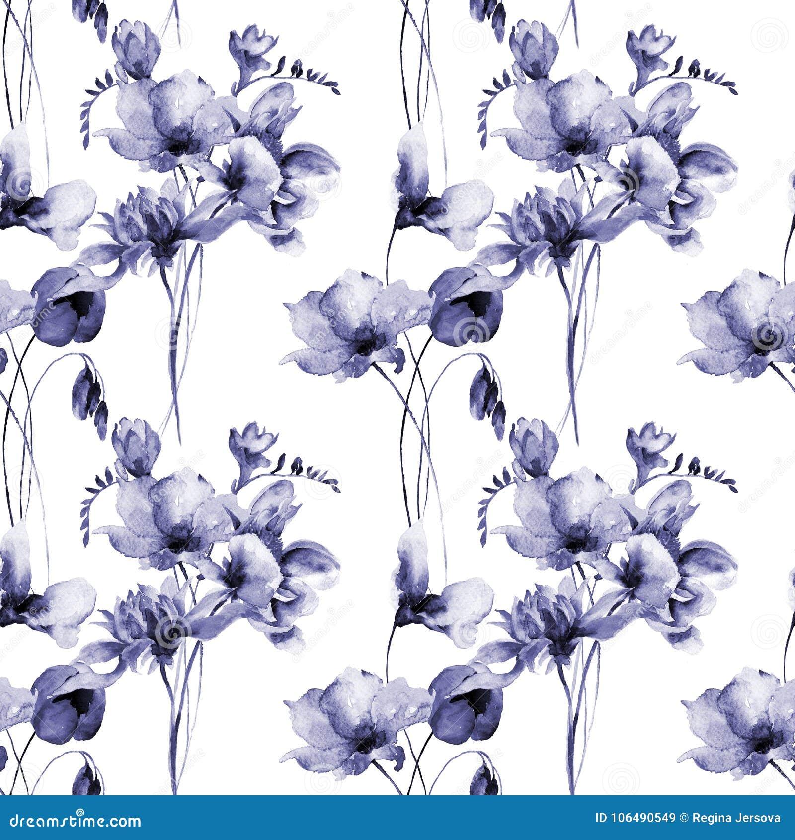 Papier peint sans couture floral