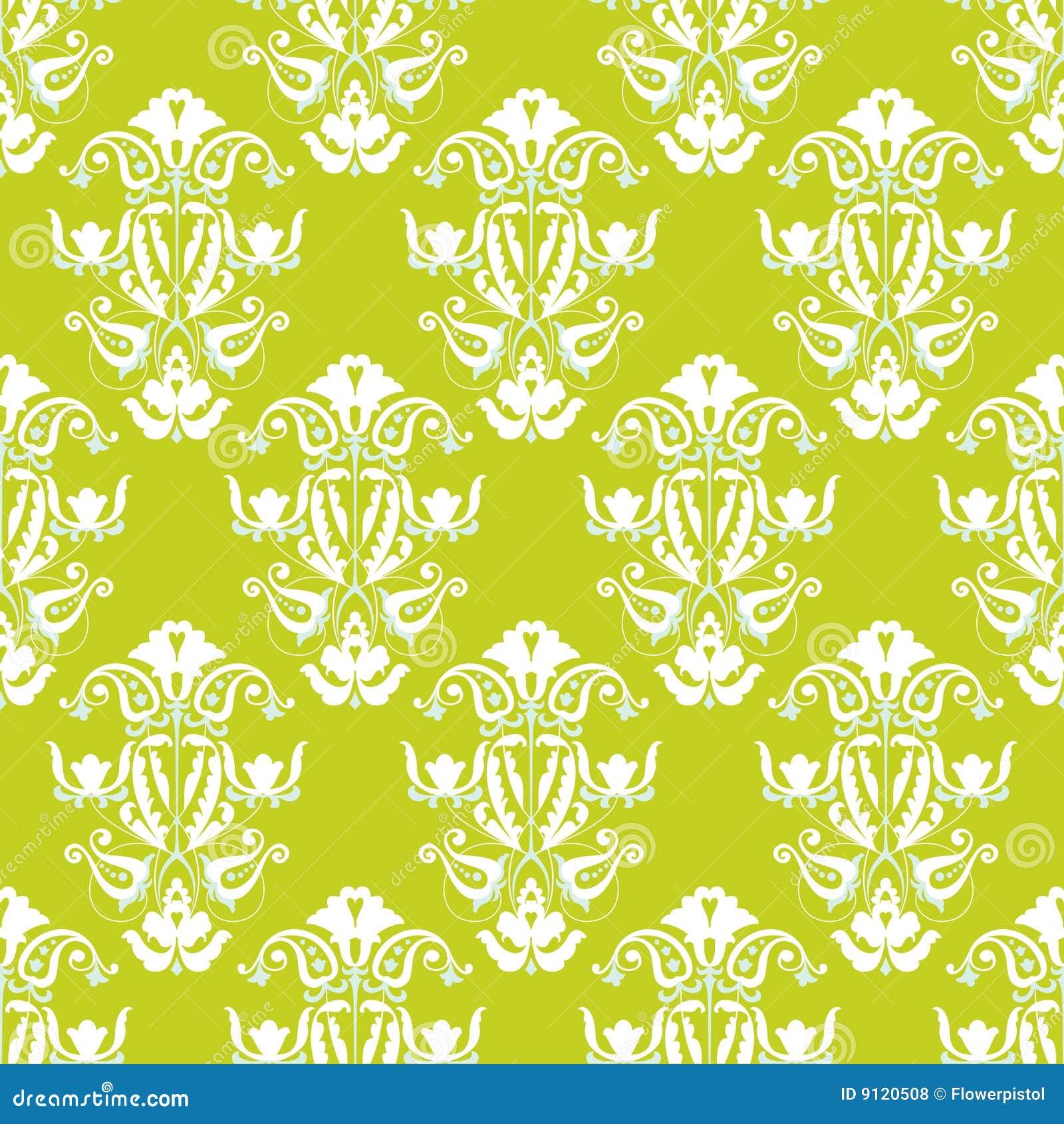 papier peint sans joint vert et blanc de vecteur photos libres de droits image 9120508. Black Bedroom Furniture Sets. Home Design Ideas