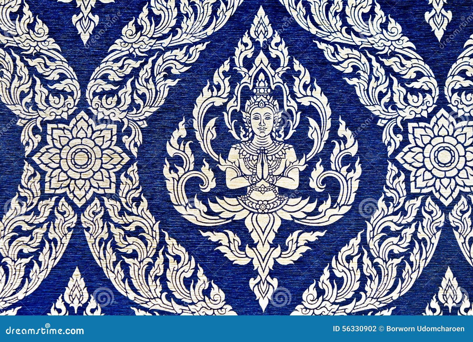 Papier Peint Thailandais De Modele De Style Photo Stock Image Du