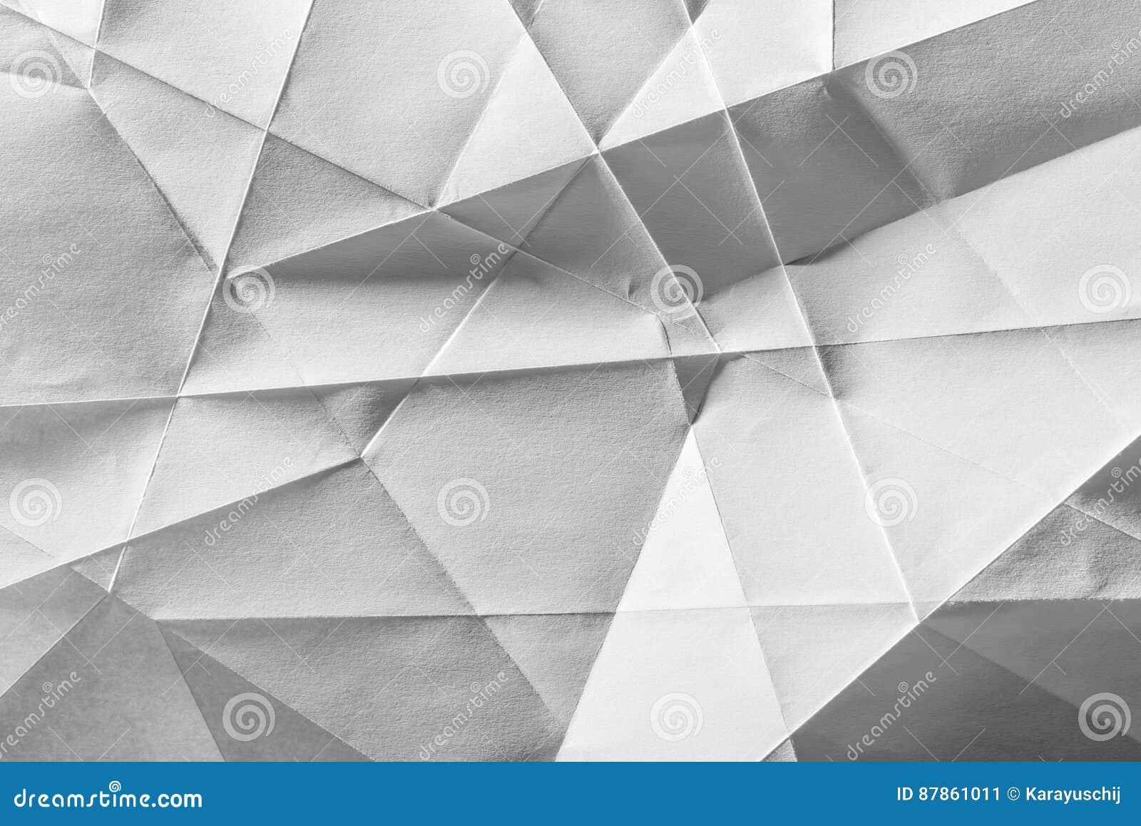 Papier plié par blanc