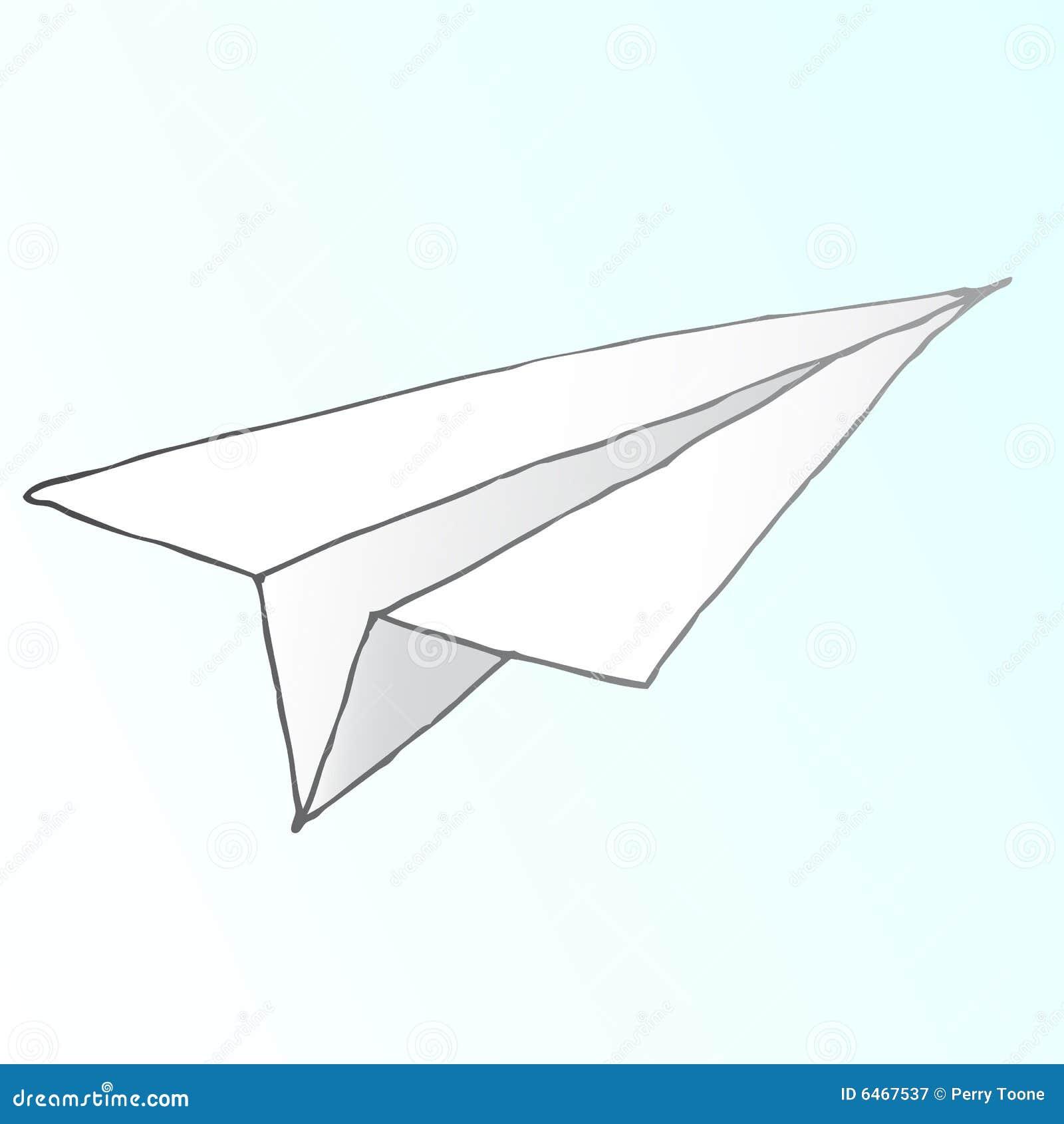 Papier statku powietrznego wektora