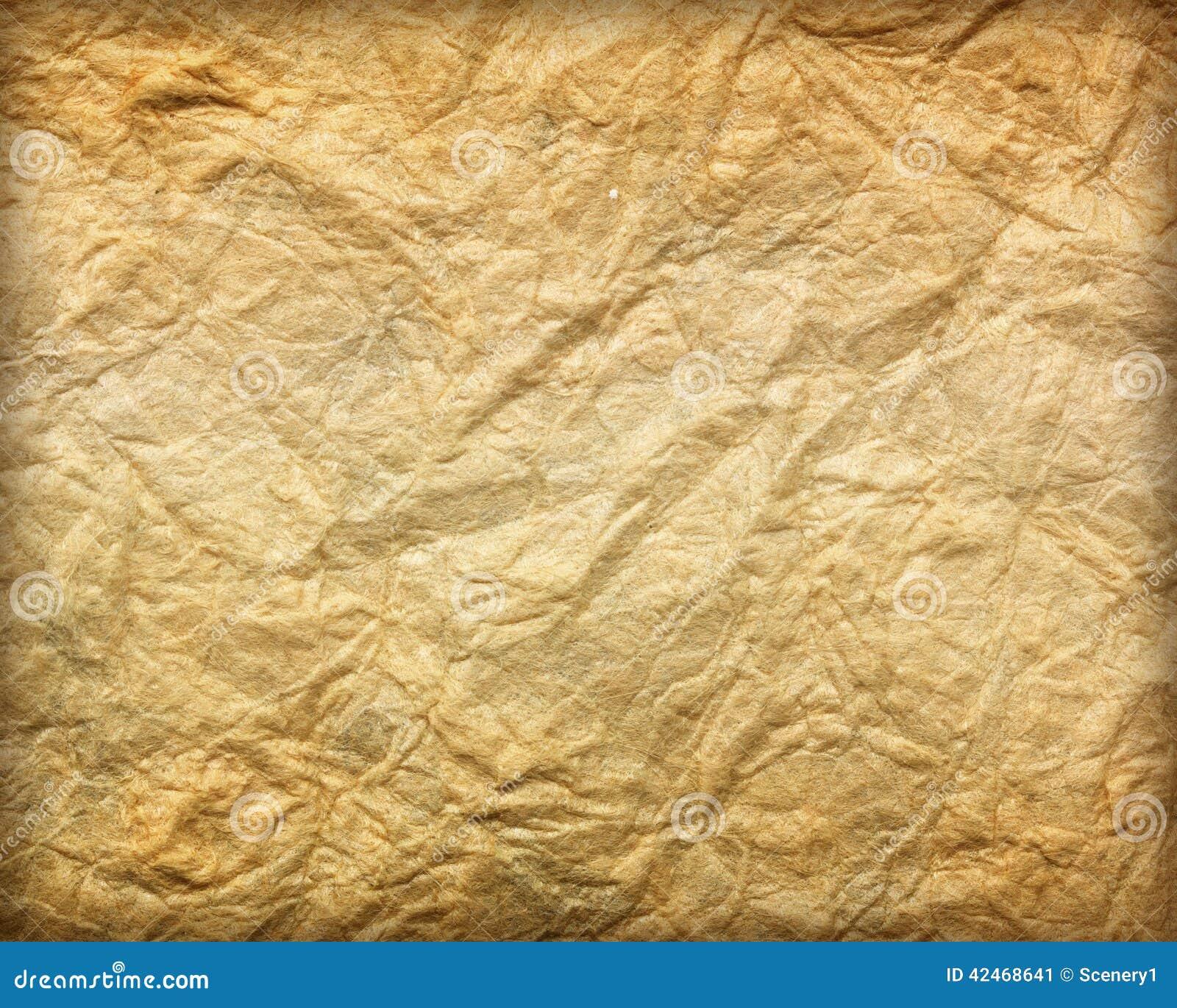 Papierblatt des braunen Papiers der beschaffenheit