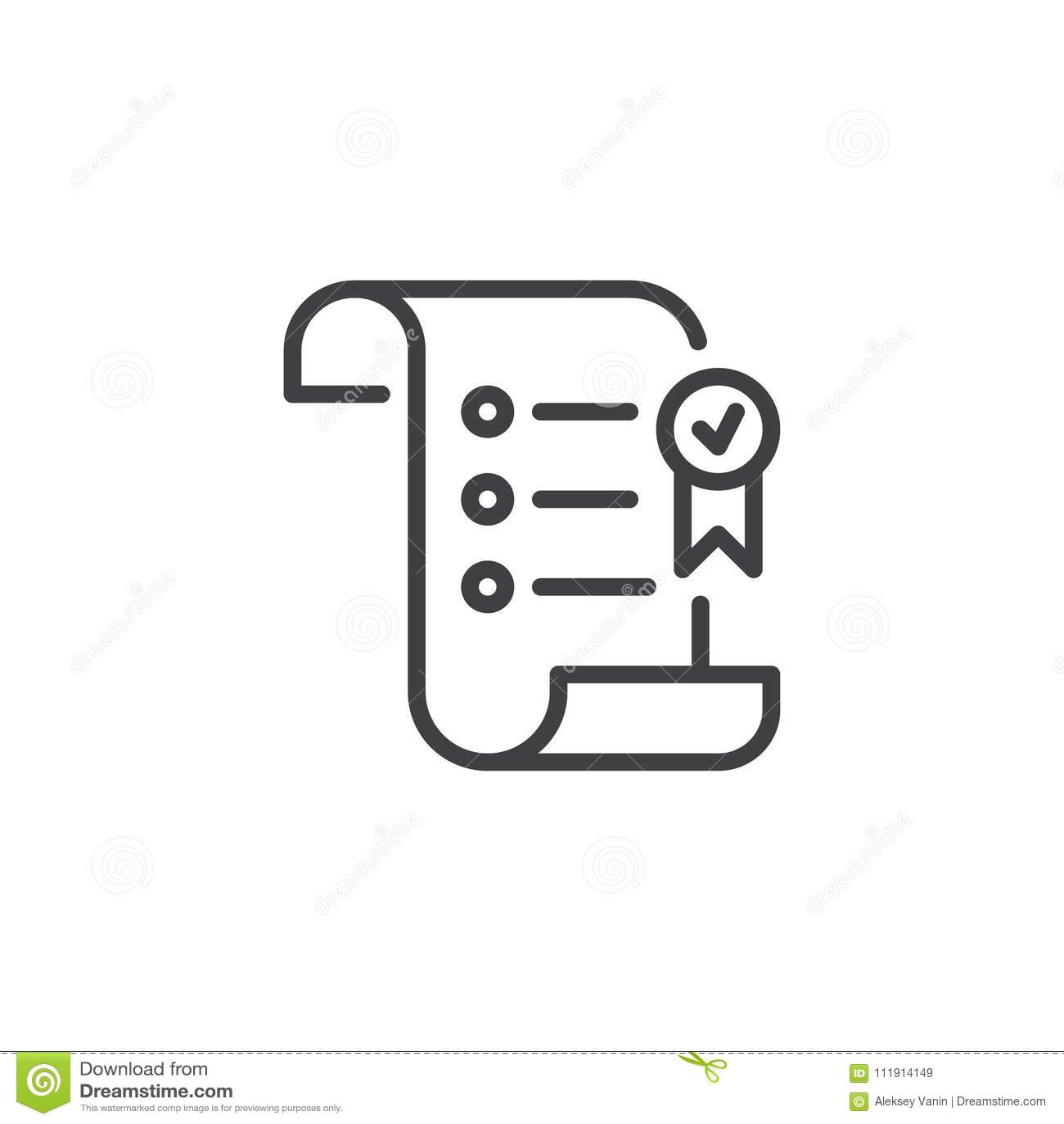 Papierowa ślimacznica z nagroda konturu tasiemkową ikoną