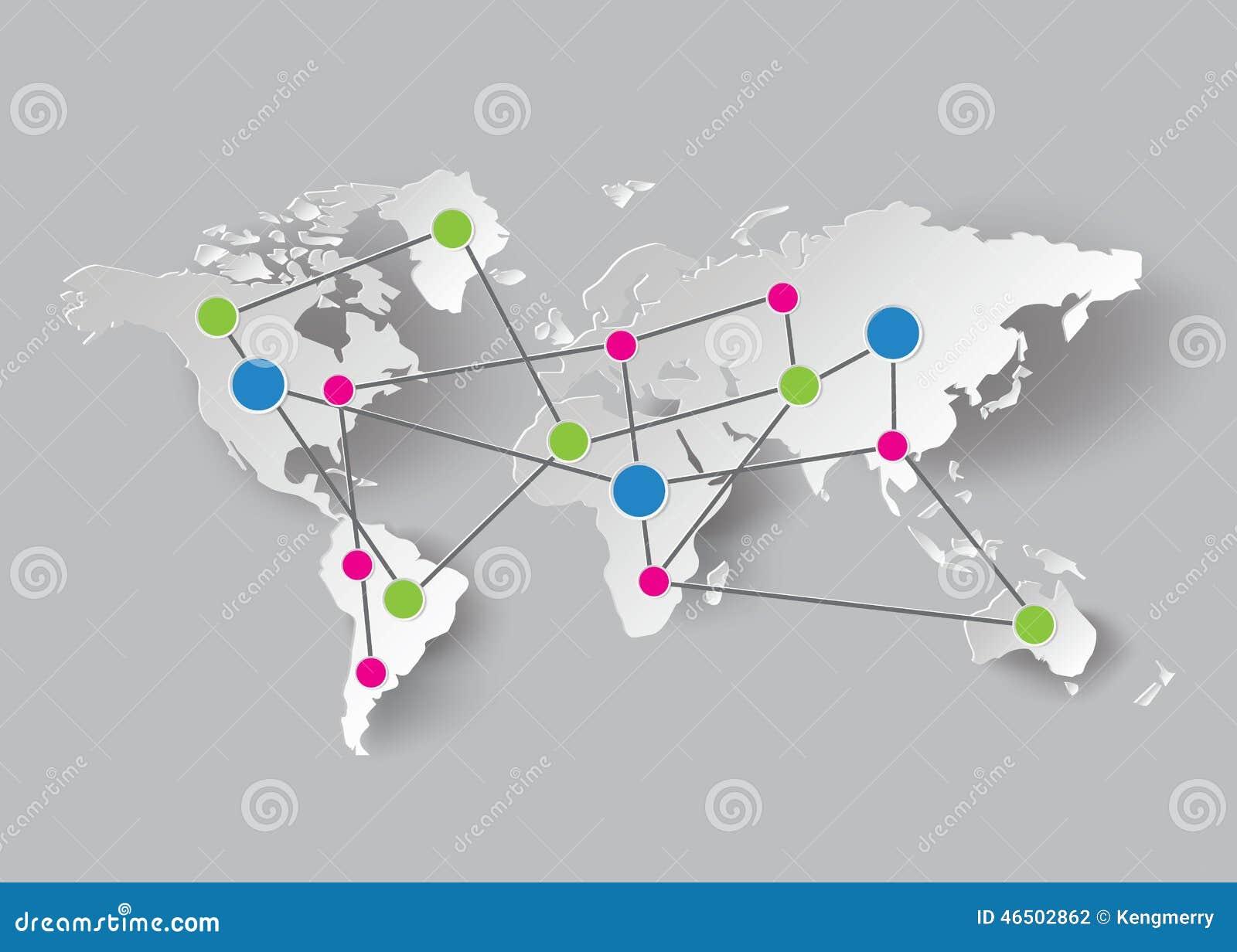 Papierowe Światowej mapy grafika