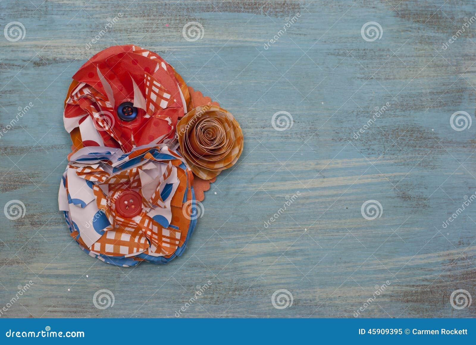 Papierowego kwiatu Corsage